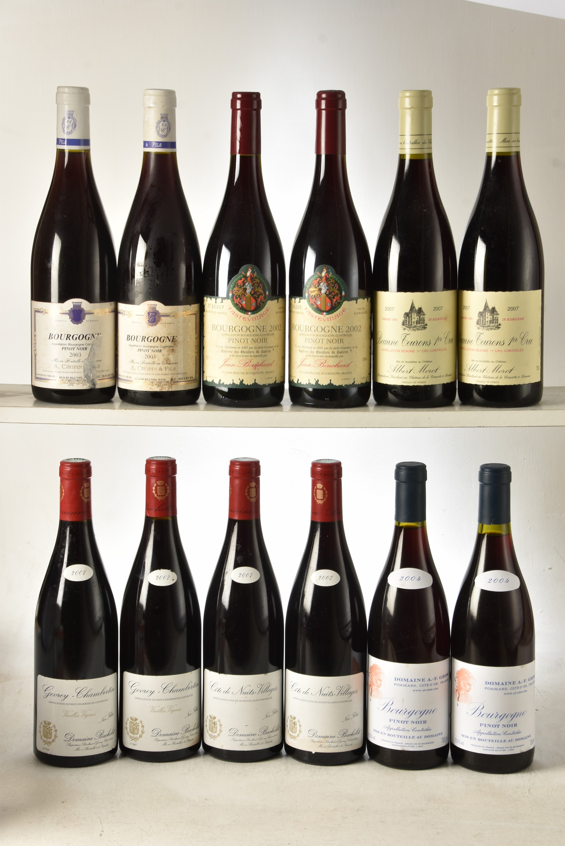 Domaine Bachelet and others 12 bts