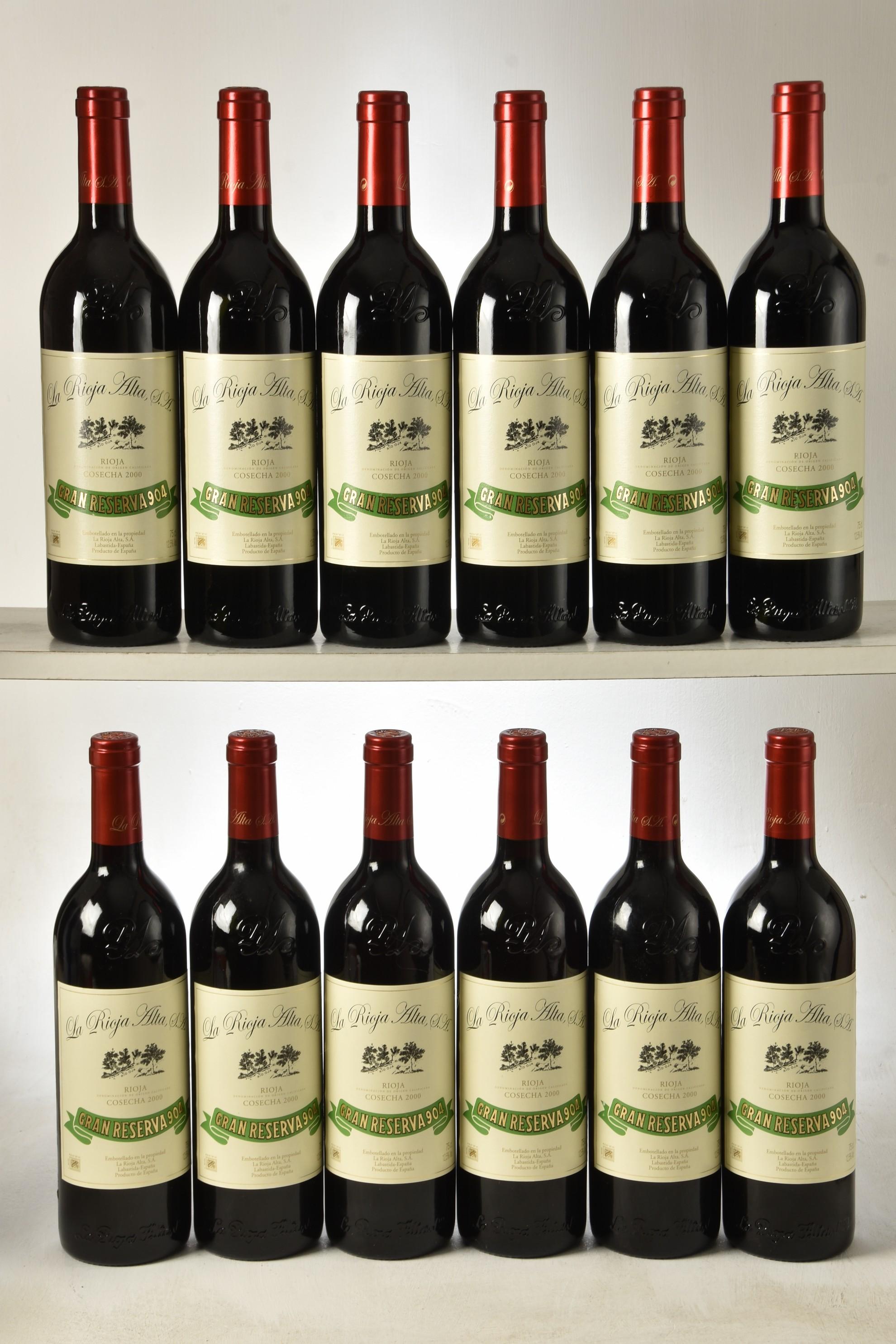 Gran Reserva 904, La Rioja Alta, Rioja, Spain 2000 12 bts OCC IN BOND
