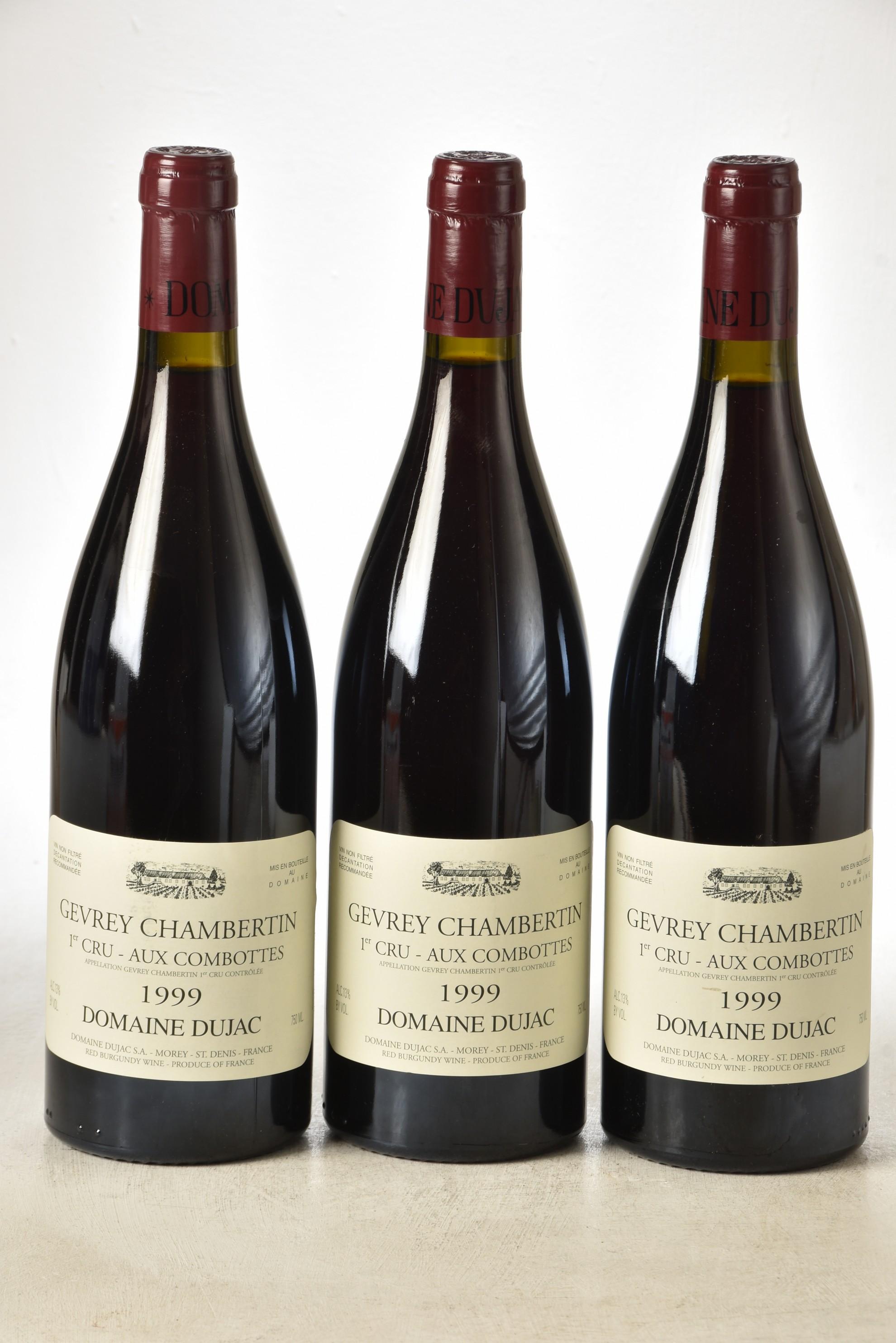 Gevrey-Chambertin 1er Cru Aux Combottes 1999 Domaine Dujac 3 bts