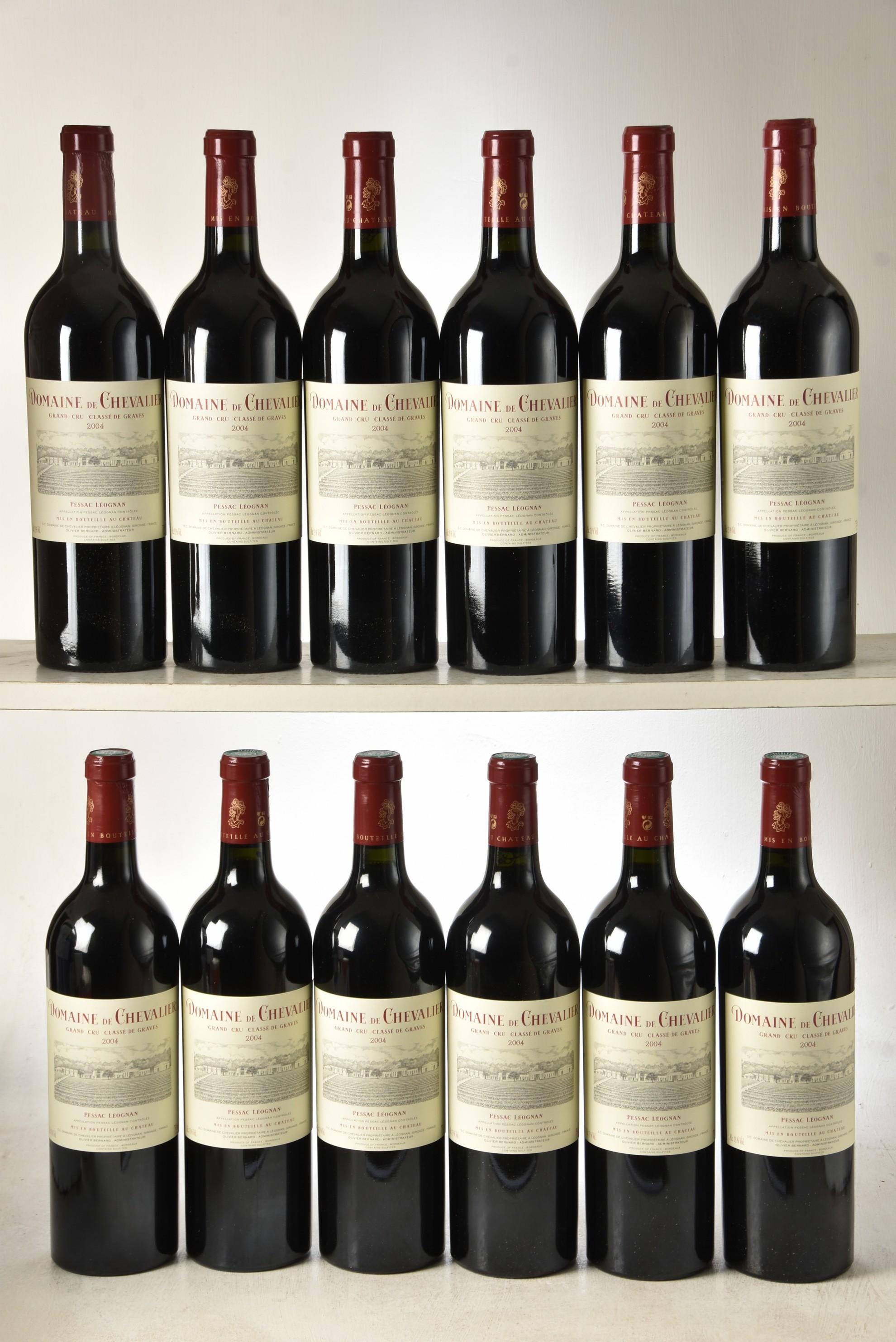 Domaine de Chevalier Rouge 2004 Pessac Leognan 12 bts OWC