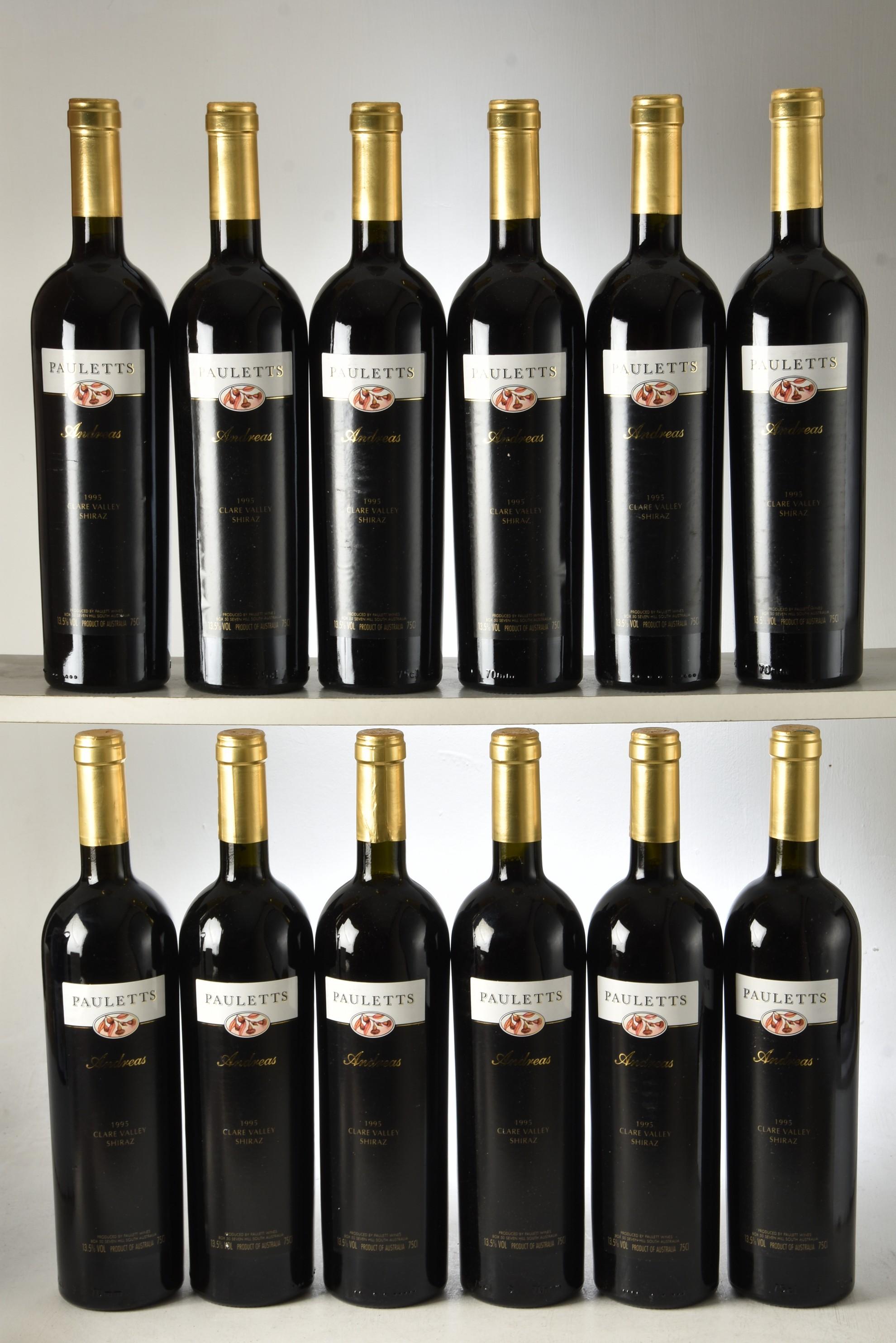 Pauletts Andreas Clare Valley Shiraz 1995 12 bts OCC