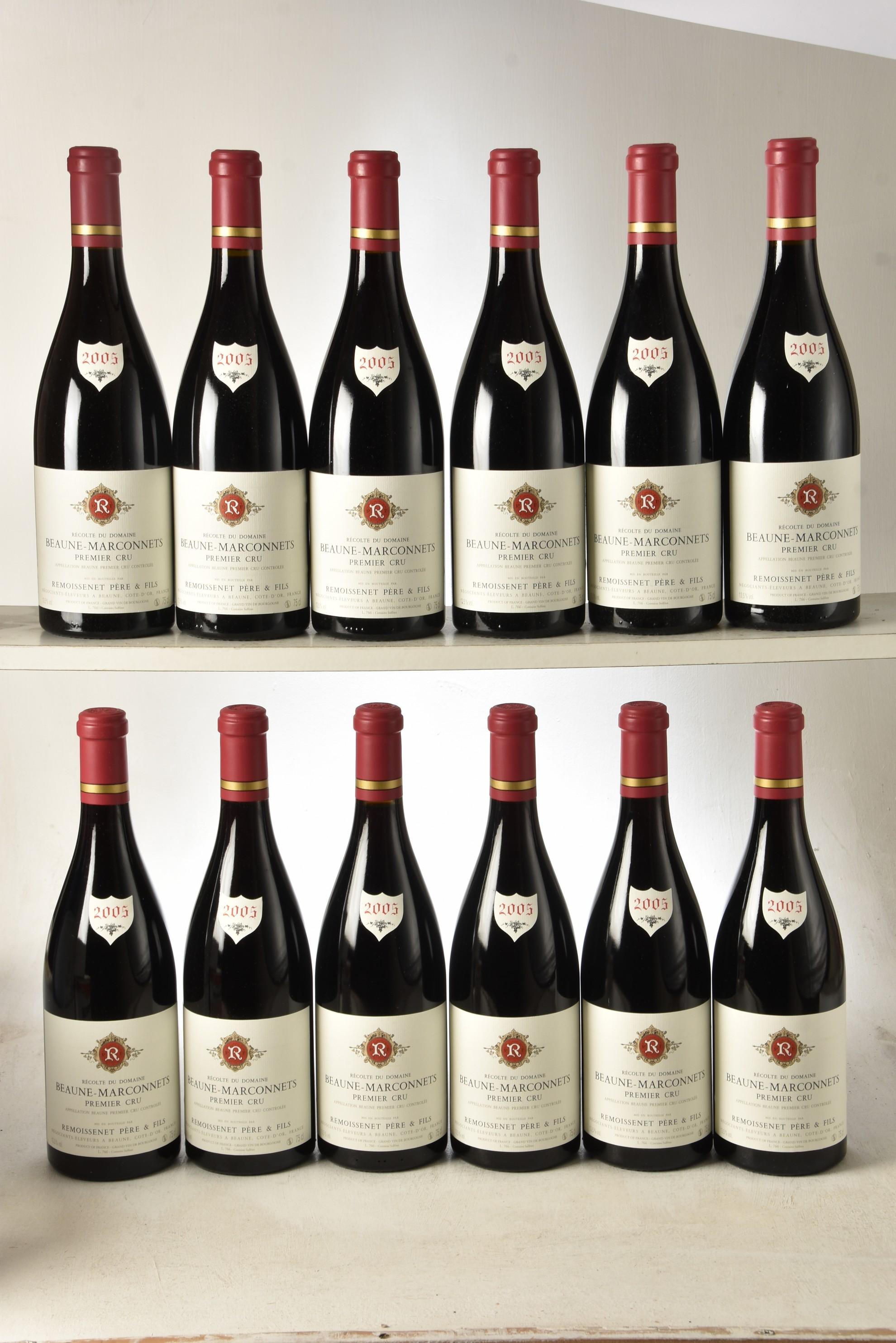 Beaune 1er Cru Les Marconnets 2005 Remoissenet 12 bts OCC