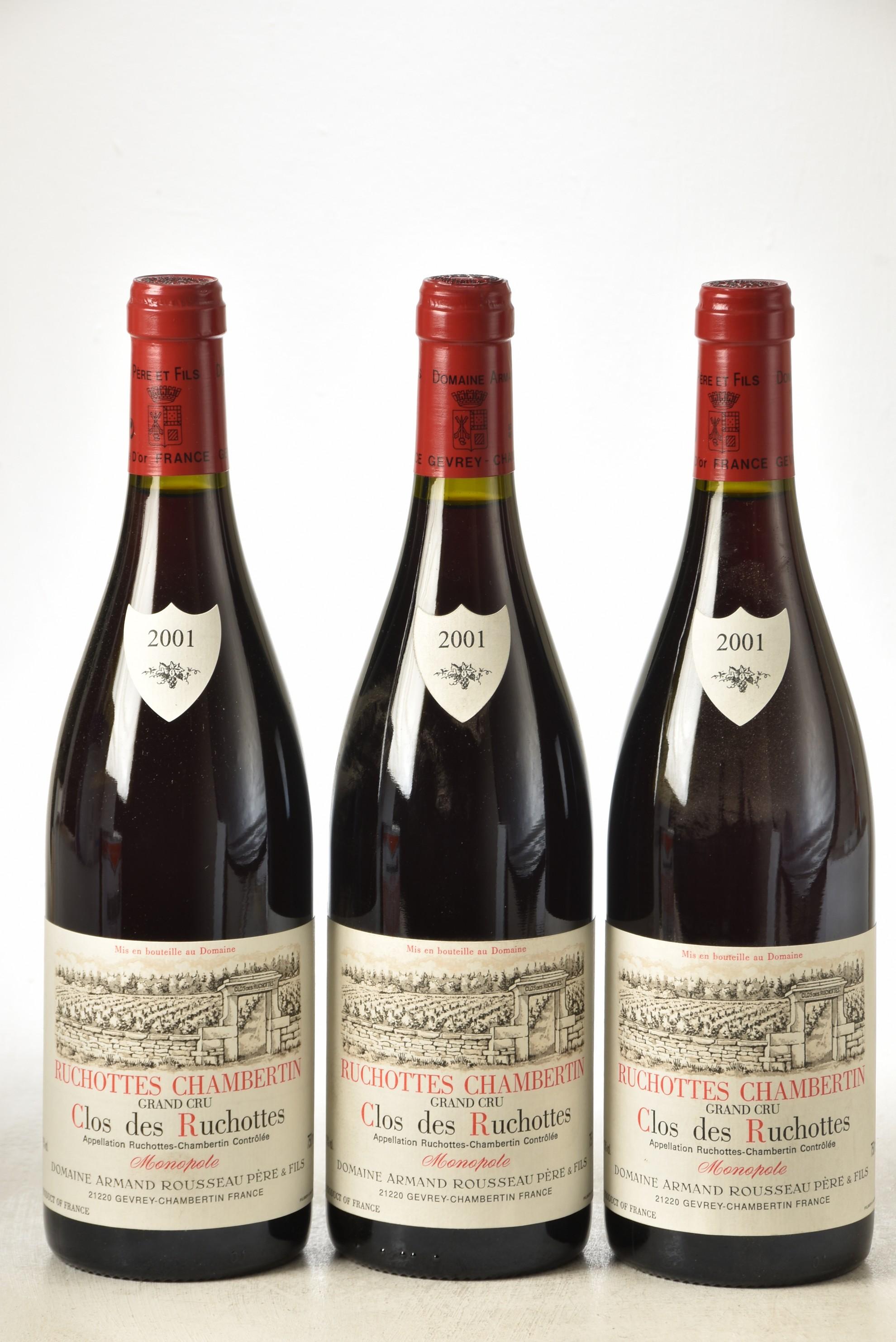 Ruchottes-Chambertin Clos des Ruchottes 2001 Domaine Armand Rousseau 3 bts IN BOND