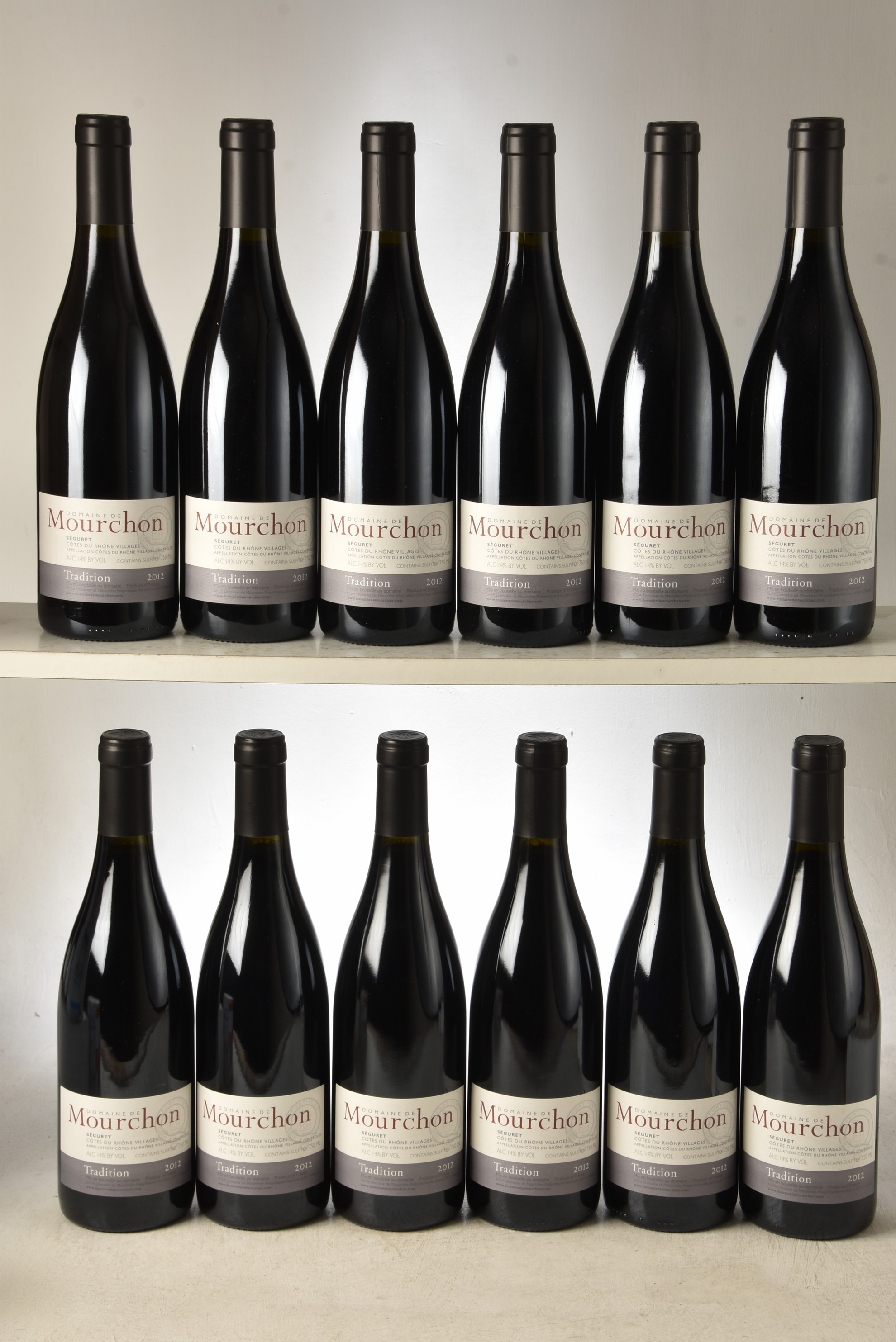 Cotes du Rhone Domaine de Mourchon Tradition 2012 12 bts OCC In Bond