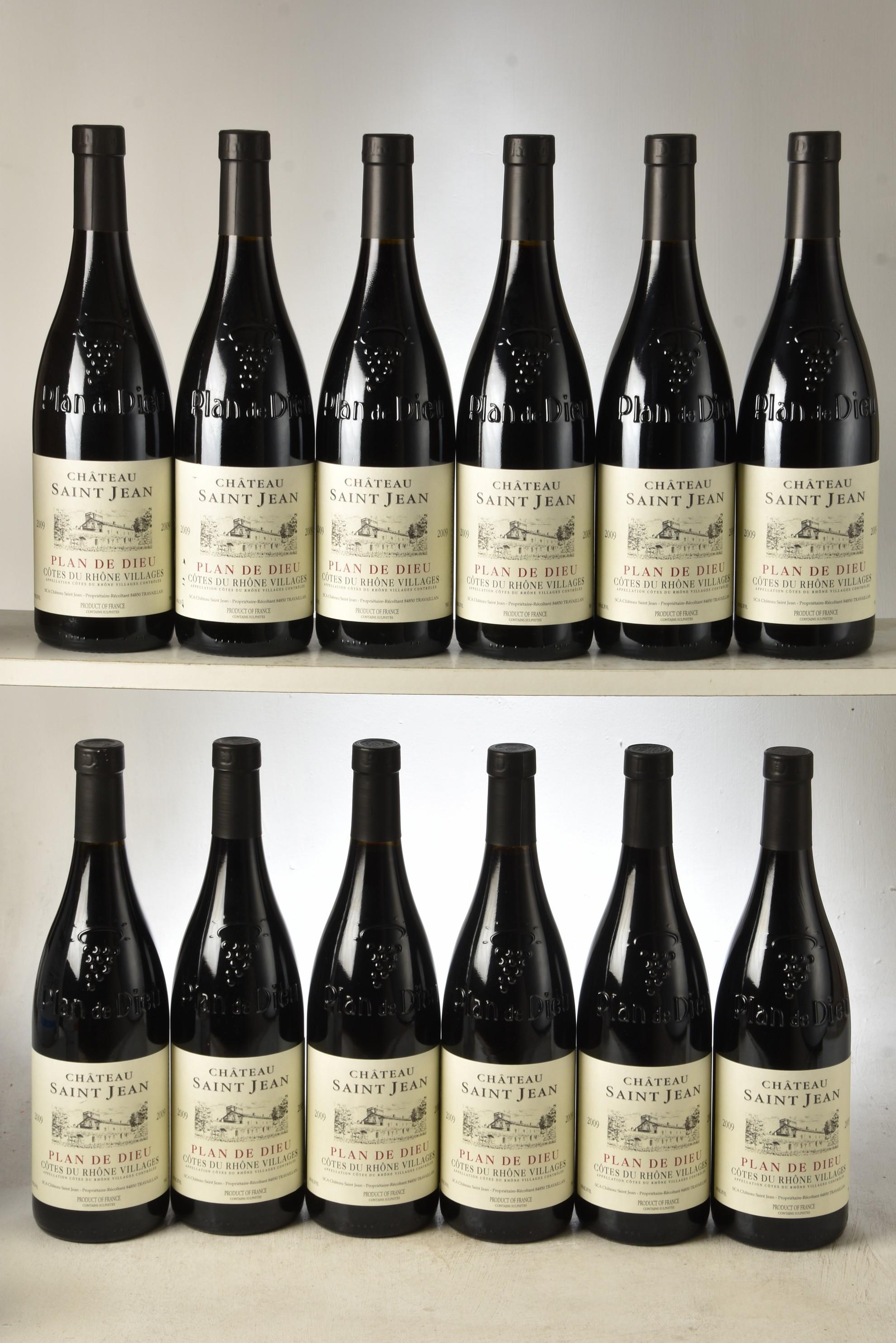 Cotes du Rhone Chateau St Jean Plan de Dieu 2009 12 bts OCC In Bond