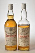 Dewars White Label 1960's bottling 26 2/3rds Fl Oz 70% proof 2 bts 1 with significant evaporation