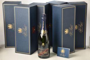 Champagne Pol Roger Sir Winston Churchill 2012 6 bts OCC IN BOND