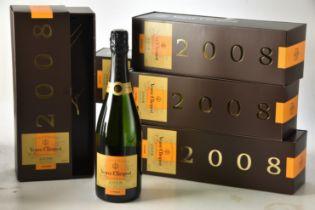 Champagne Veuve Clicquot 2008 6 bts OCC IN BOND