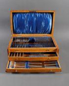 Bruckmann Essbesteck für 12 Personen im Besteckkasten, 90er Auflage