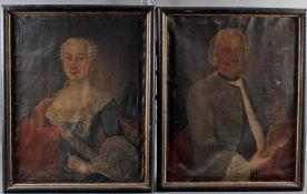 Damen und Herrenportrait. Deutsch 18. Jahrhundert