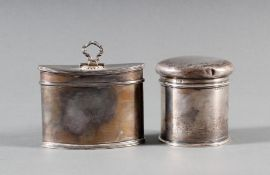 2 silberne Deckeldosen