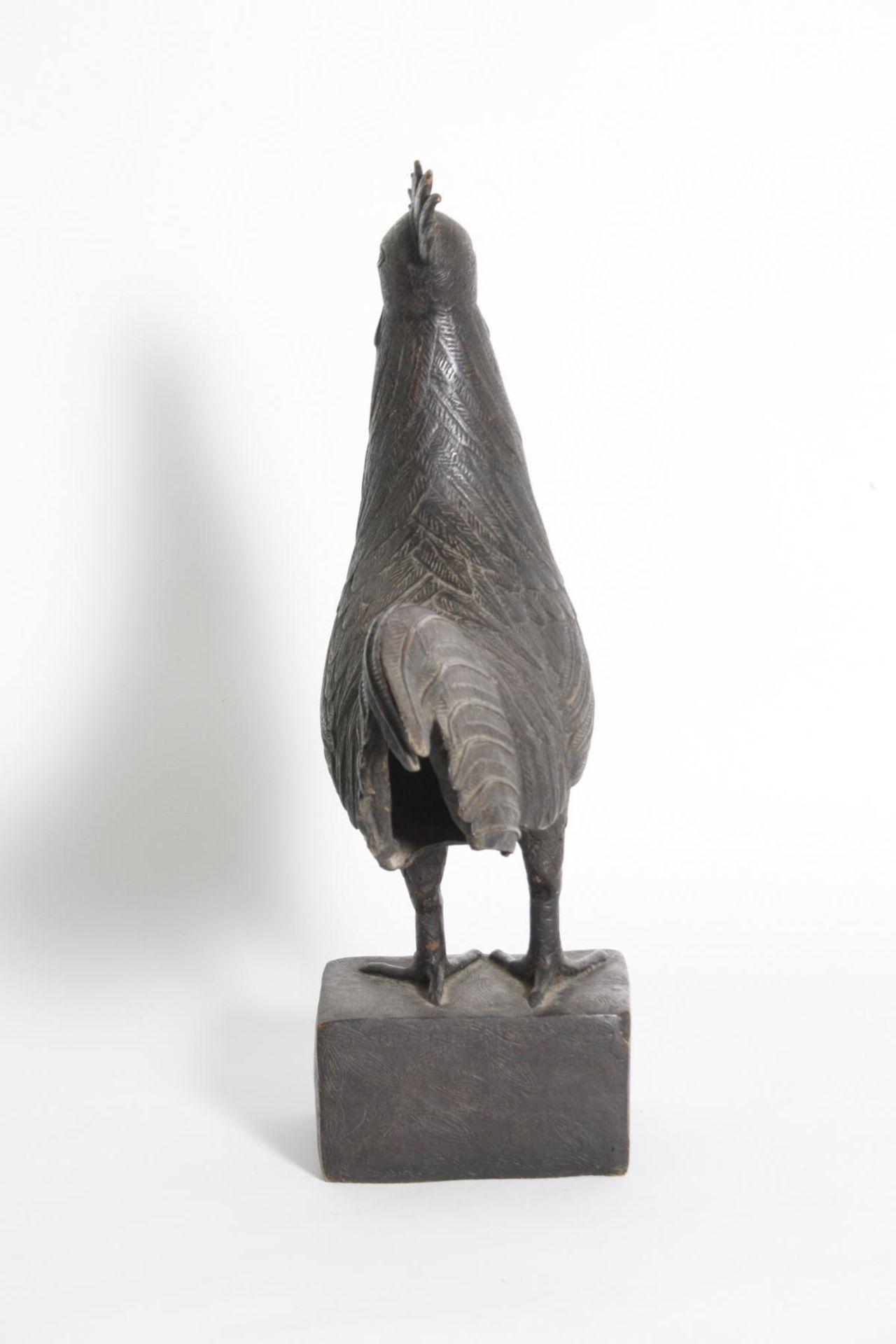 Bronze Hahn, Benin, Nigeria, 1. Hälfte 20. Jh. - Bild 5 aus 5