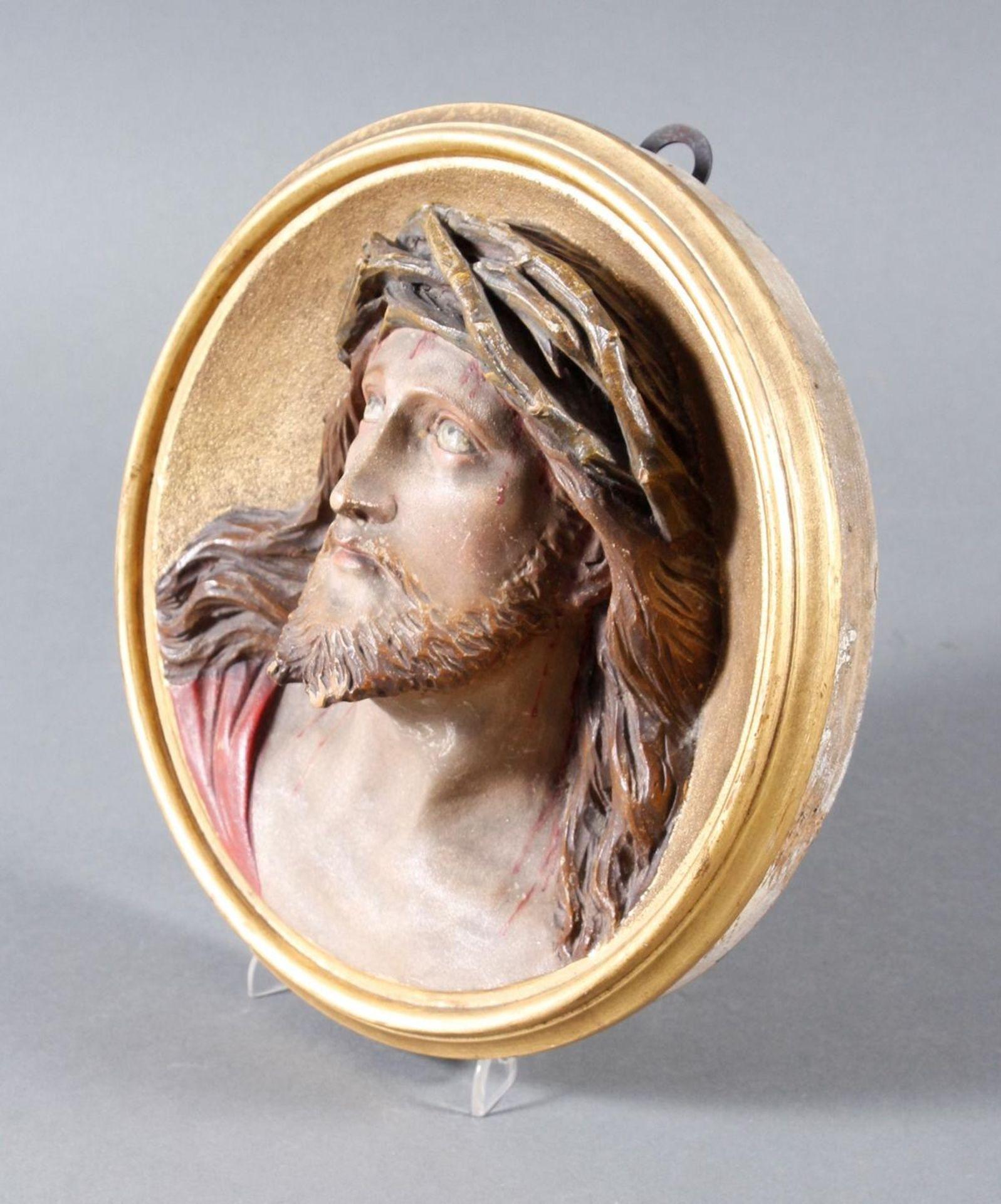 Holz Wandrelief, Christus, Süddeutsch um 1880 - Bild 4 aus 6