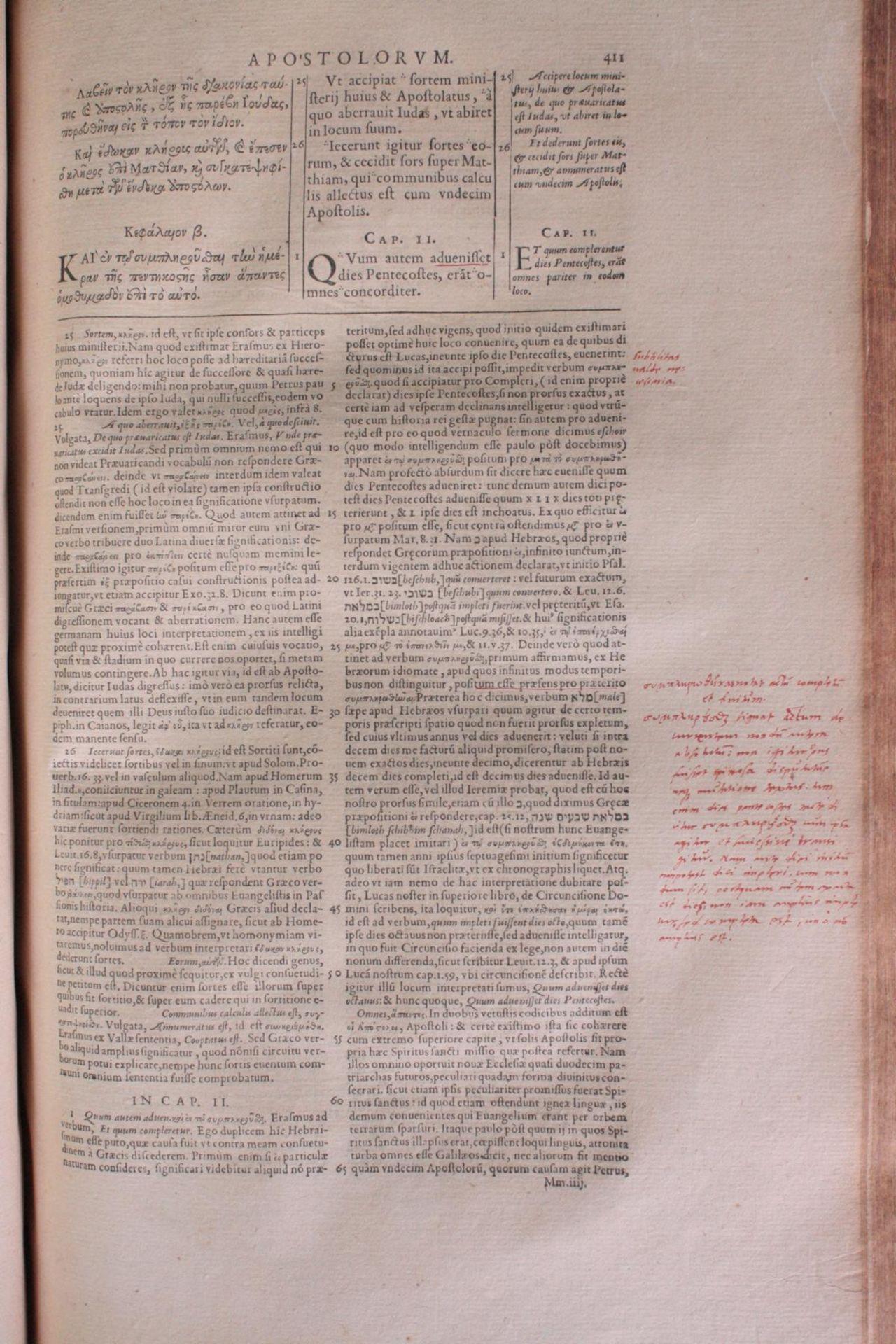 Griechische-Lateinische Bibel, Novum Testamentum 1582 - Bild 10 aus 23