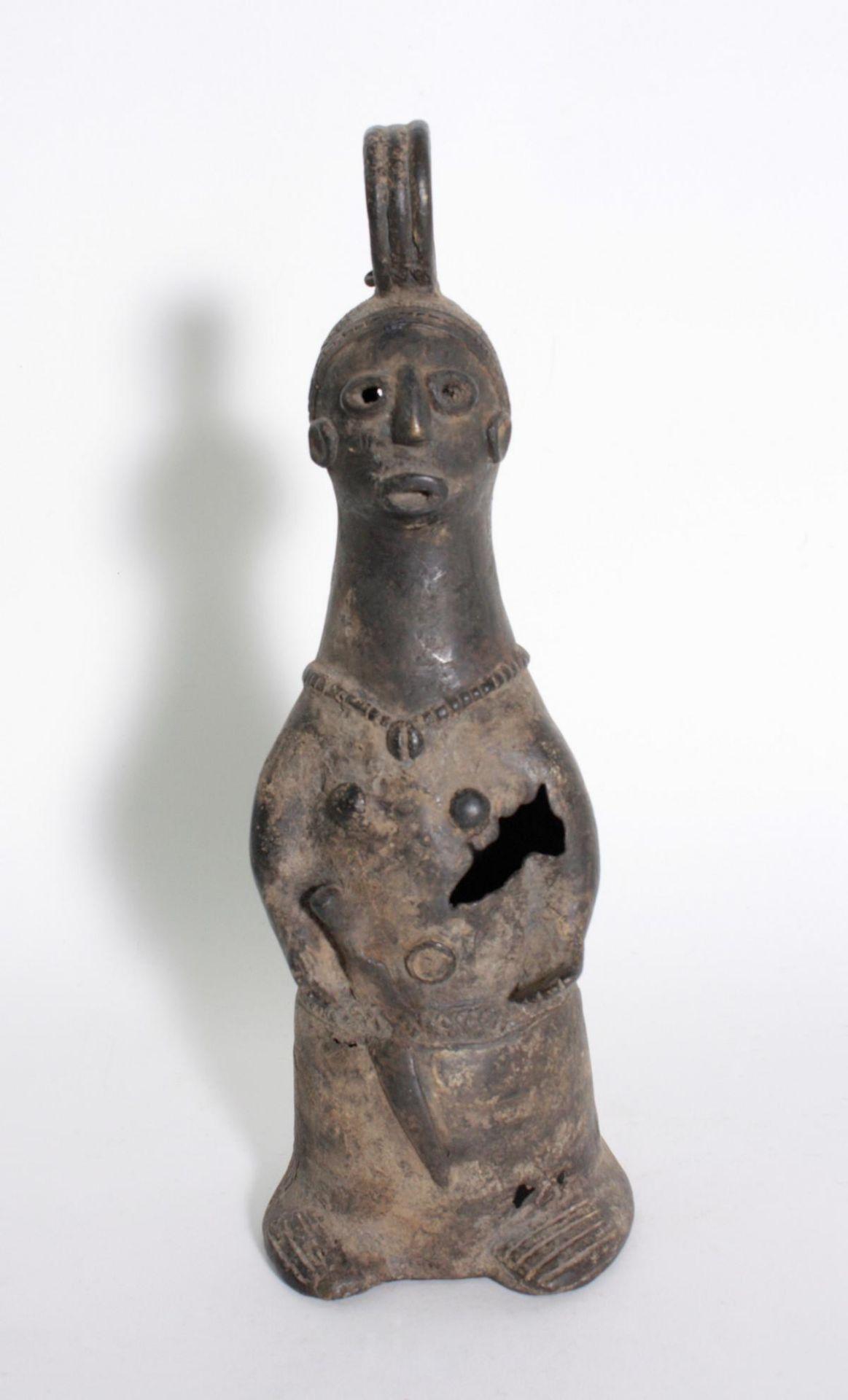 Bronze-Doppelkopf-Glocke, Benin, Nigeria, 1. Hälfte 20. Jh.