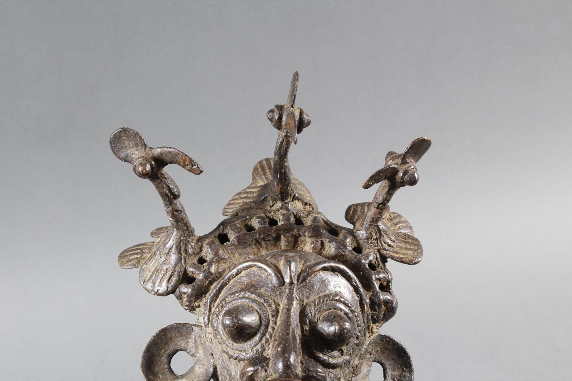 Paar Bronze-Hofzwergenpaar, Bamileke / Kamerun - Bild 4 aus 14
