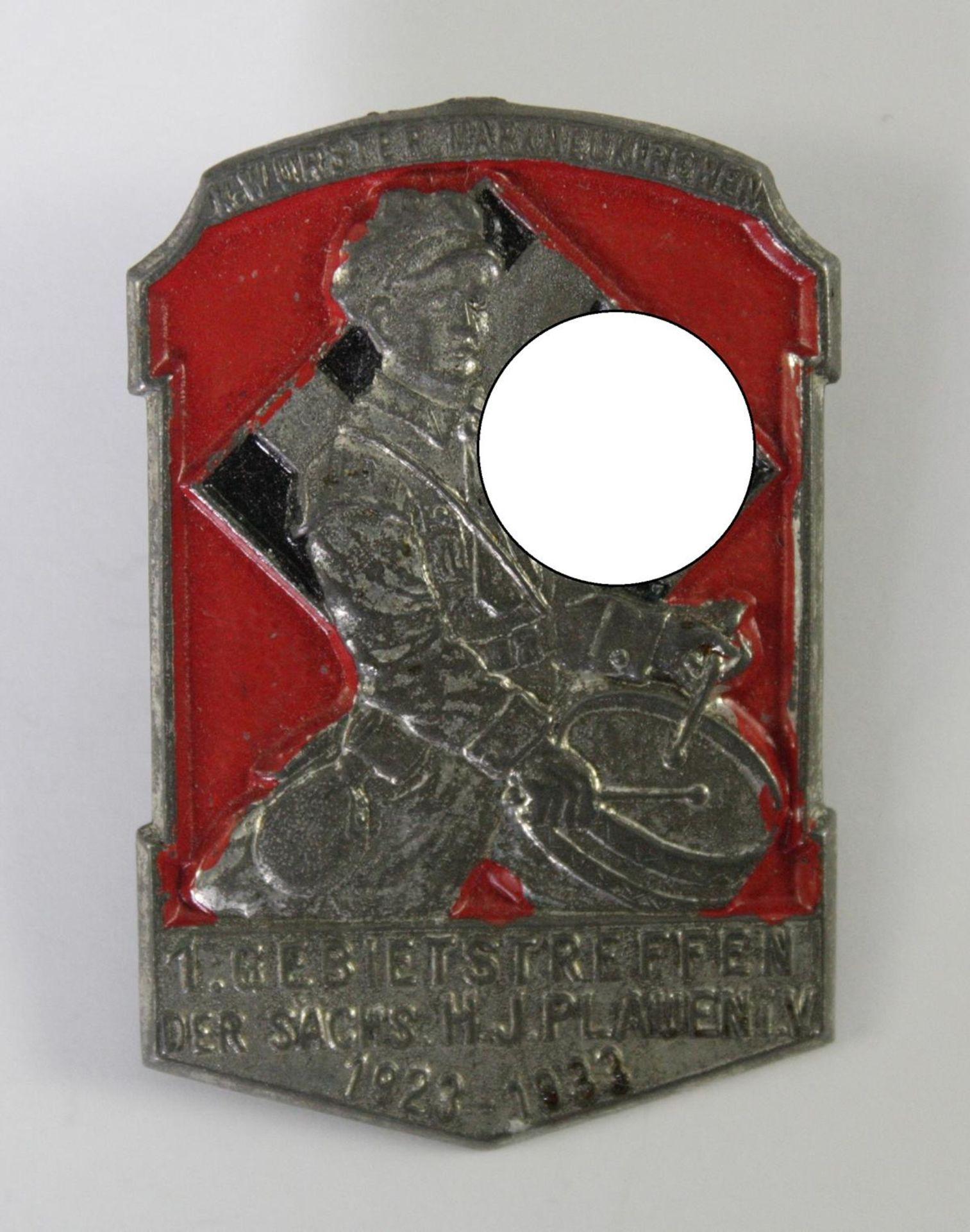 Abzeichen, 1. Gebiettreffen der sächsischen HJ Plauen i.V. 1923-1933