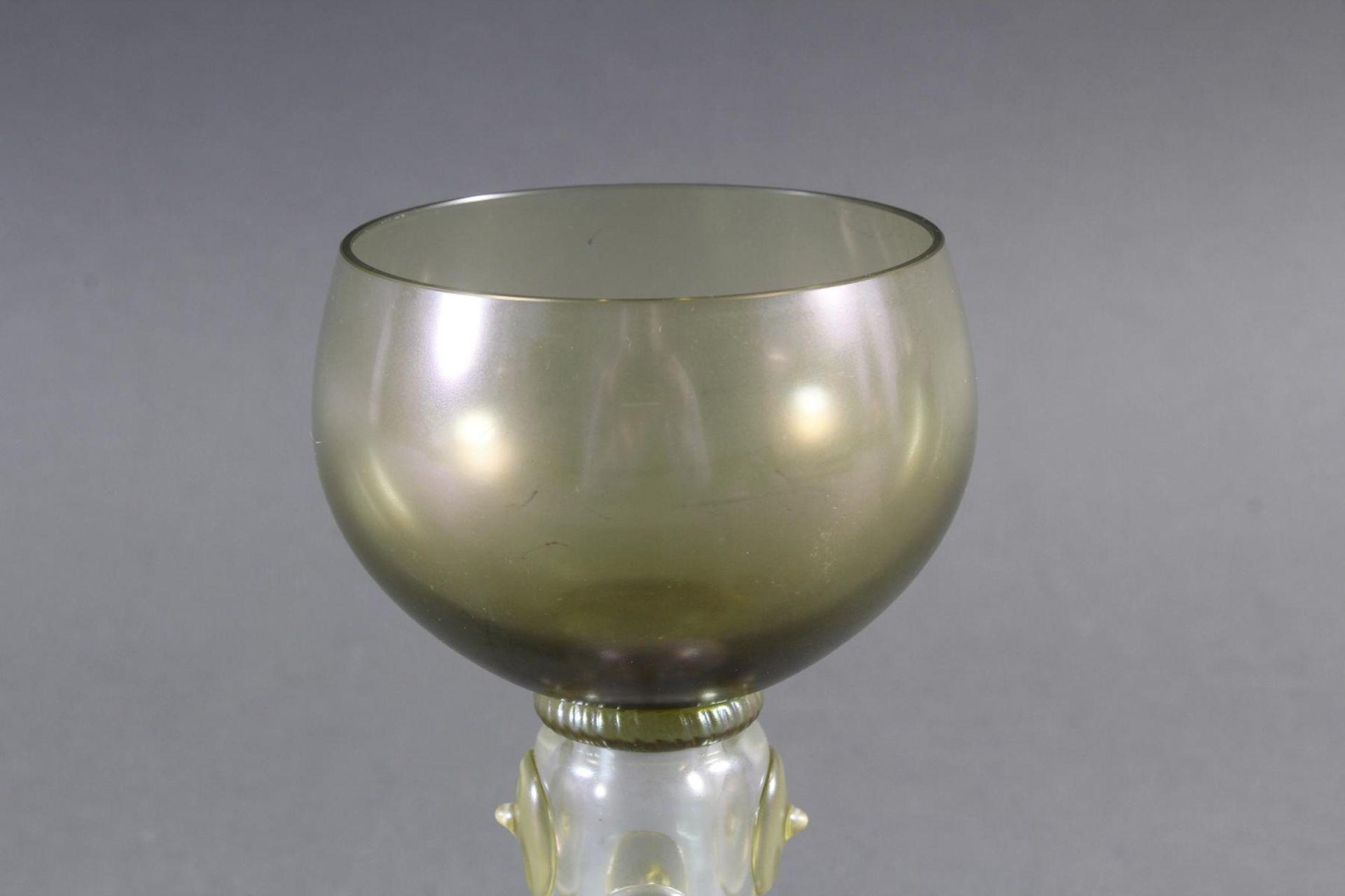Glaspokal, wohl Böhmen um 1920 - Bild 3 aus 6