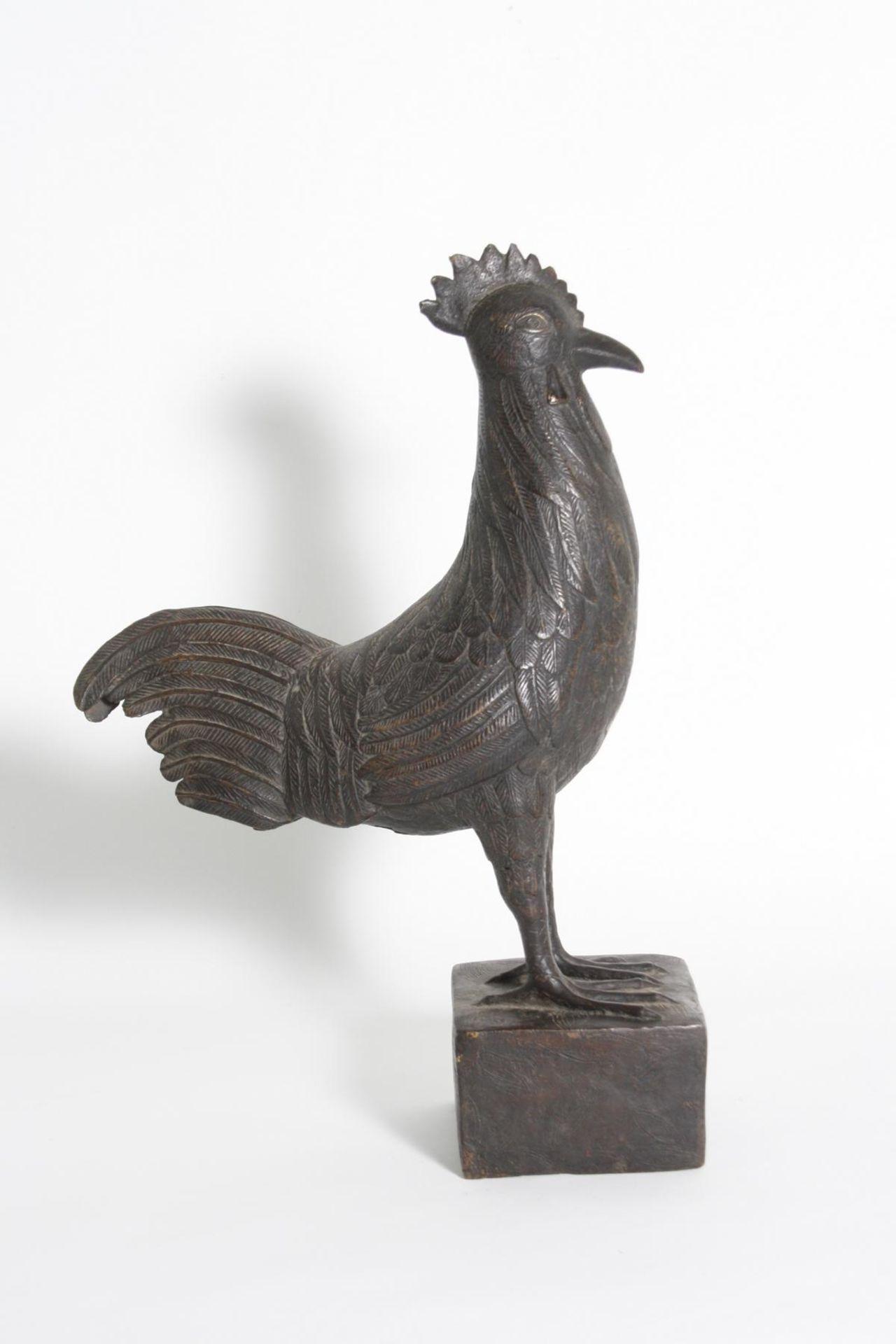 Bronze Hahn, Benin, Nigeria, 1. Hälfte 20. Jh. - Bild 4 aus 5