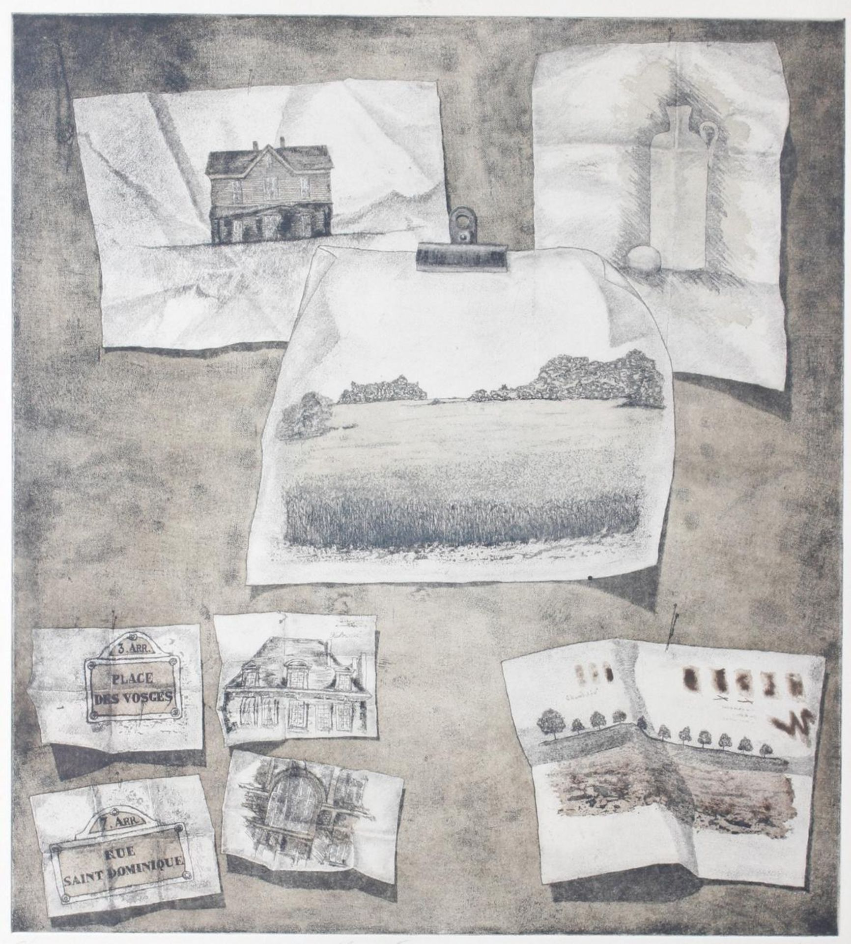 Radierung, Großes-Atelier-Stilleben, Schinkmann 1979 - Bild 2 aus 5