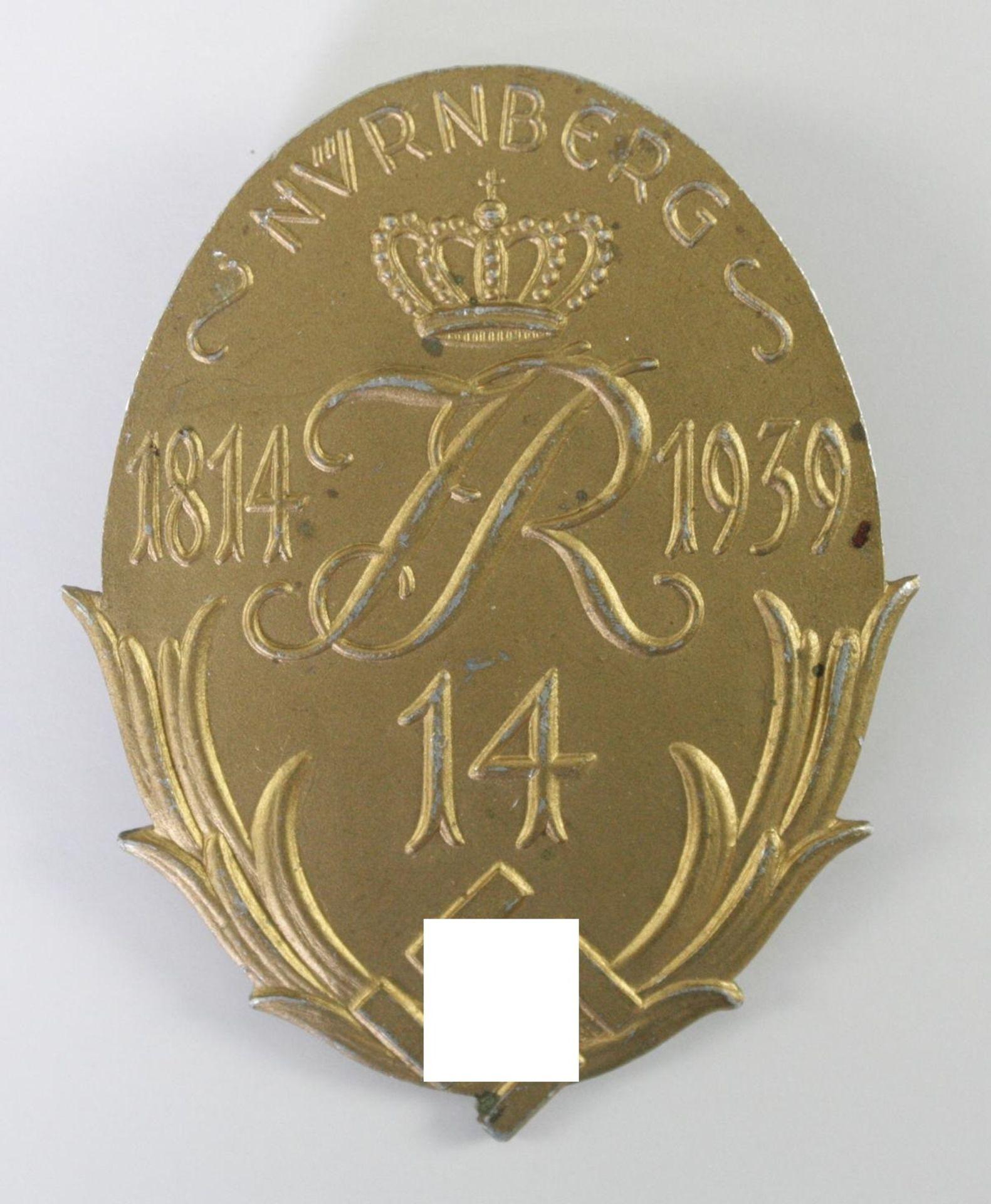 Jubiläumsabzeichen zur 125 Jahrfeier des Infanterie Regiments Nr. 14, Nürnberg 1939