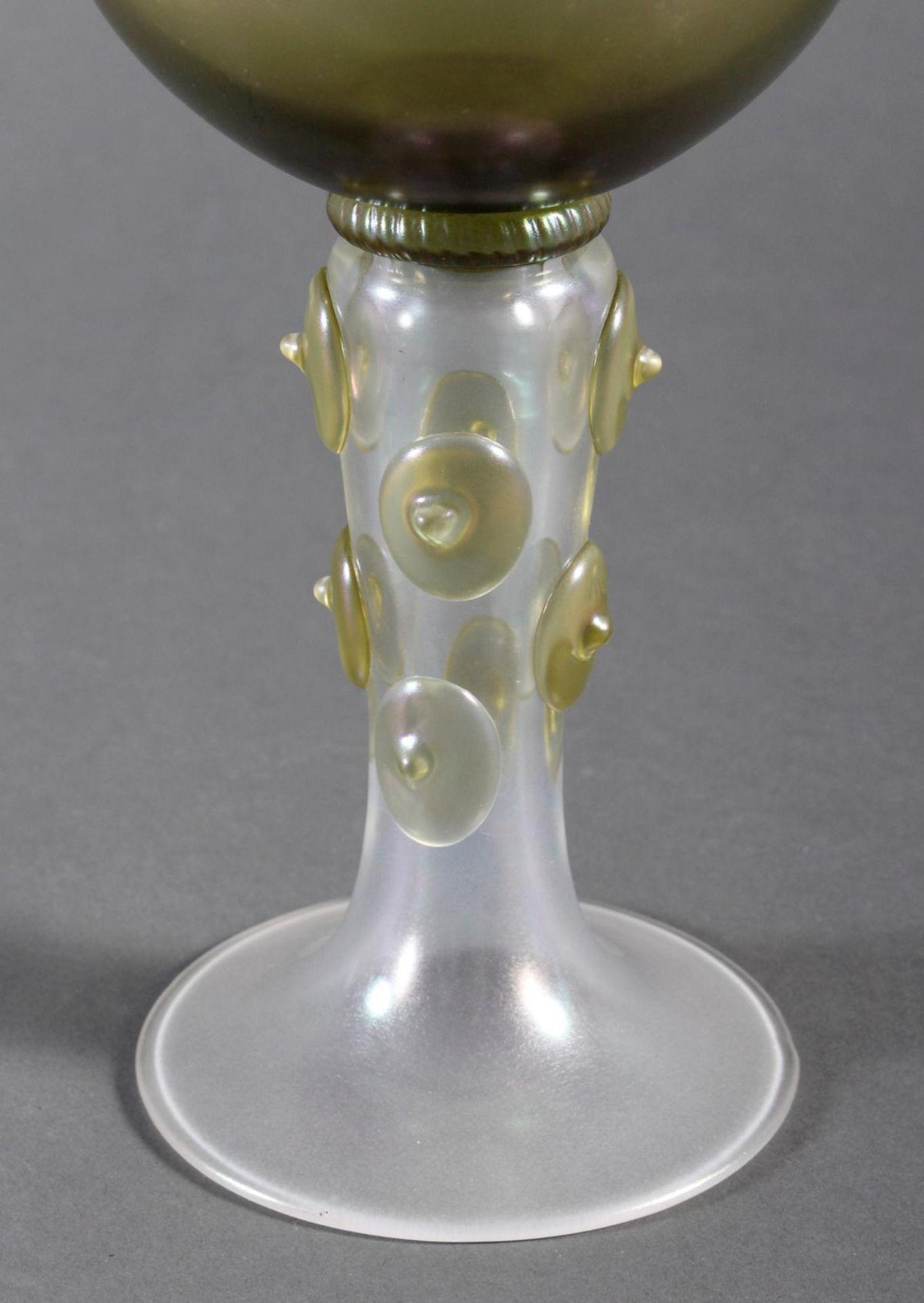 Glaspokal, wohl Böhmen um 1920 - Bild 2 aus 6