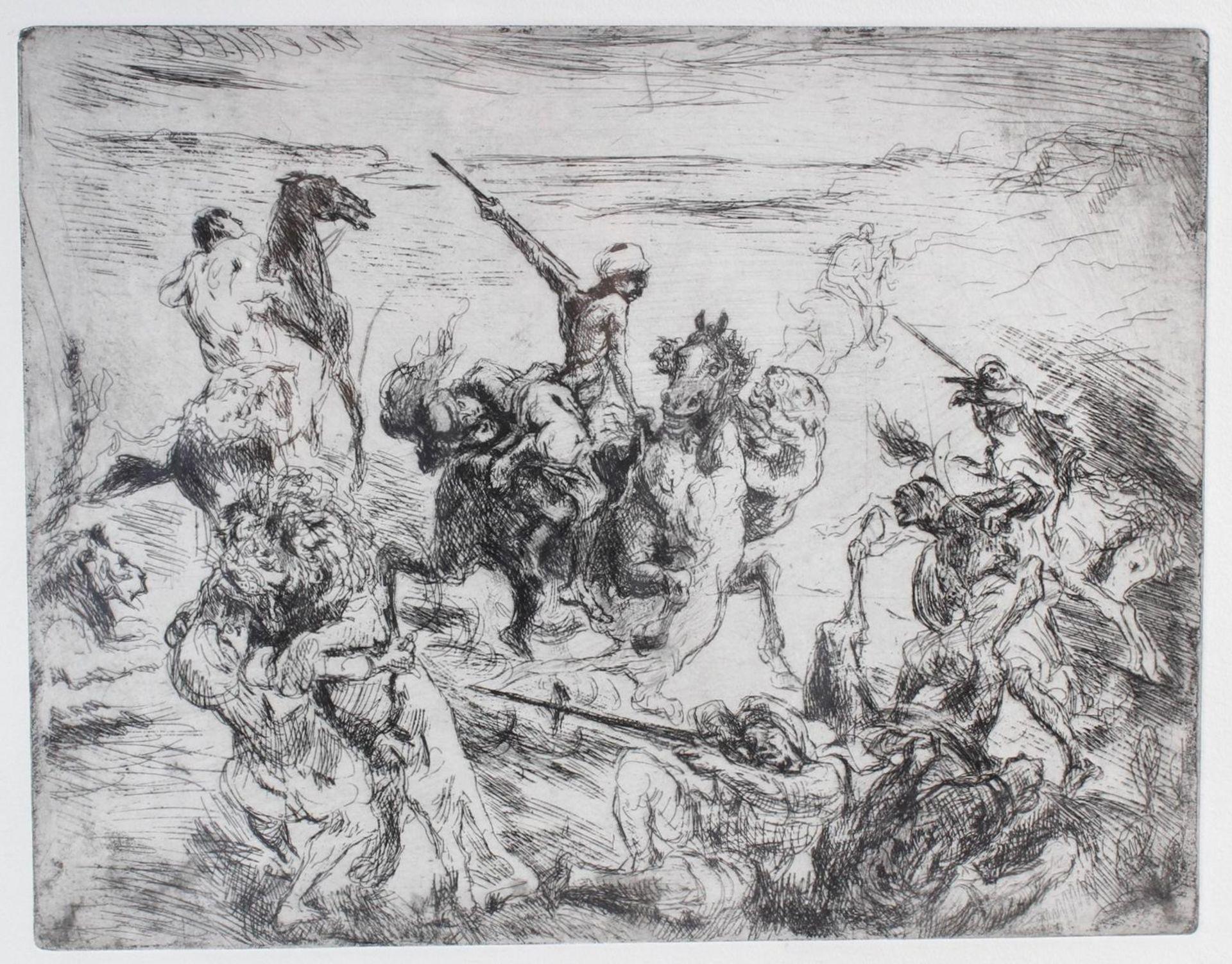 Max Slevogt (1868-1932), Löwenjagd - Bild 2 aus 7