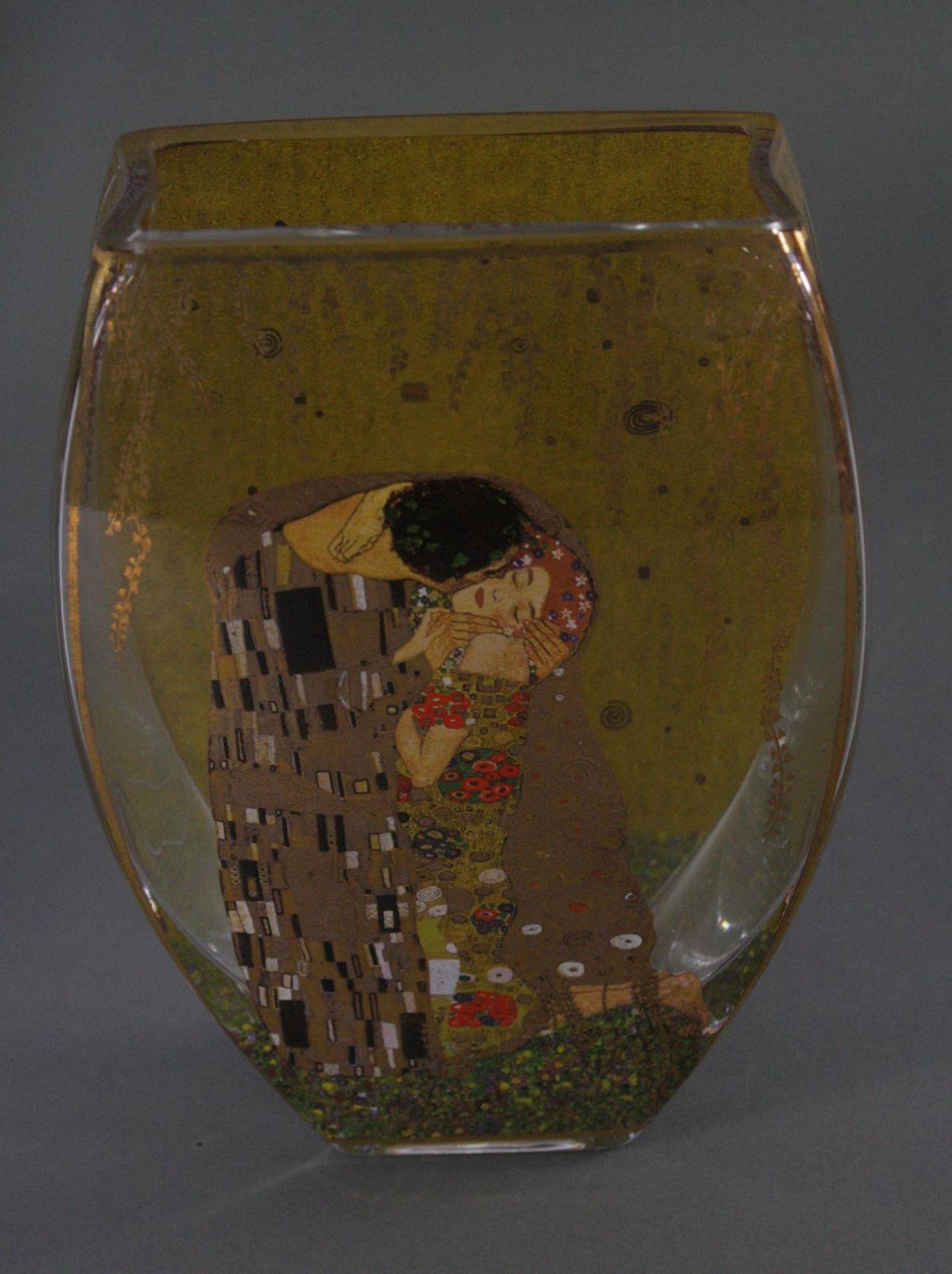 Zwei Goebel Artis Orbis Gustav Klimt Vasen. Porzellan und Glas - Bild 2 aus 7