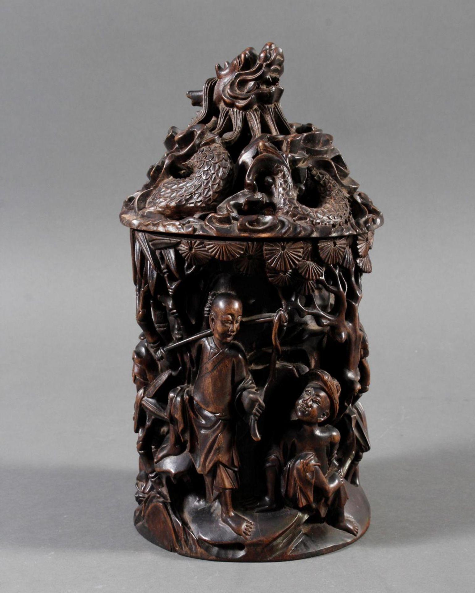 Pinselbecher mit Deckel, China ,Qing Zeit 18. / 19. Jahrhundert