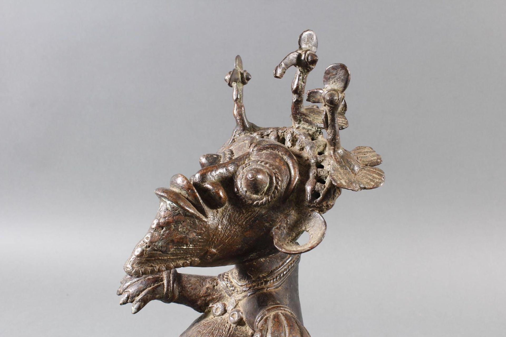Paar Bronze-Hofzwergenpaar, Bamileke / Kamerun - Bild 12 aus 14