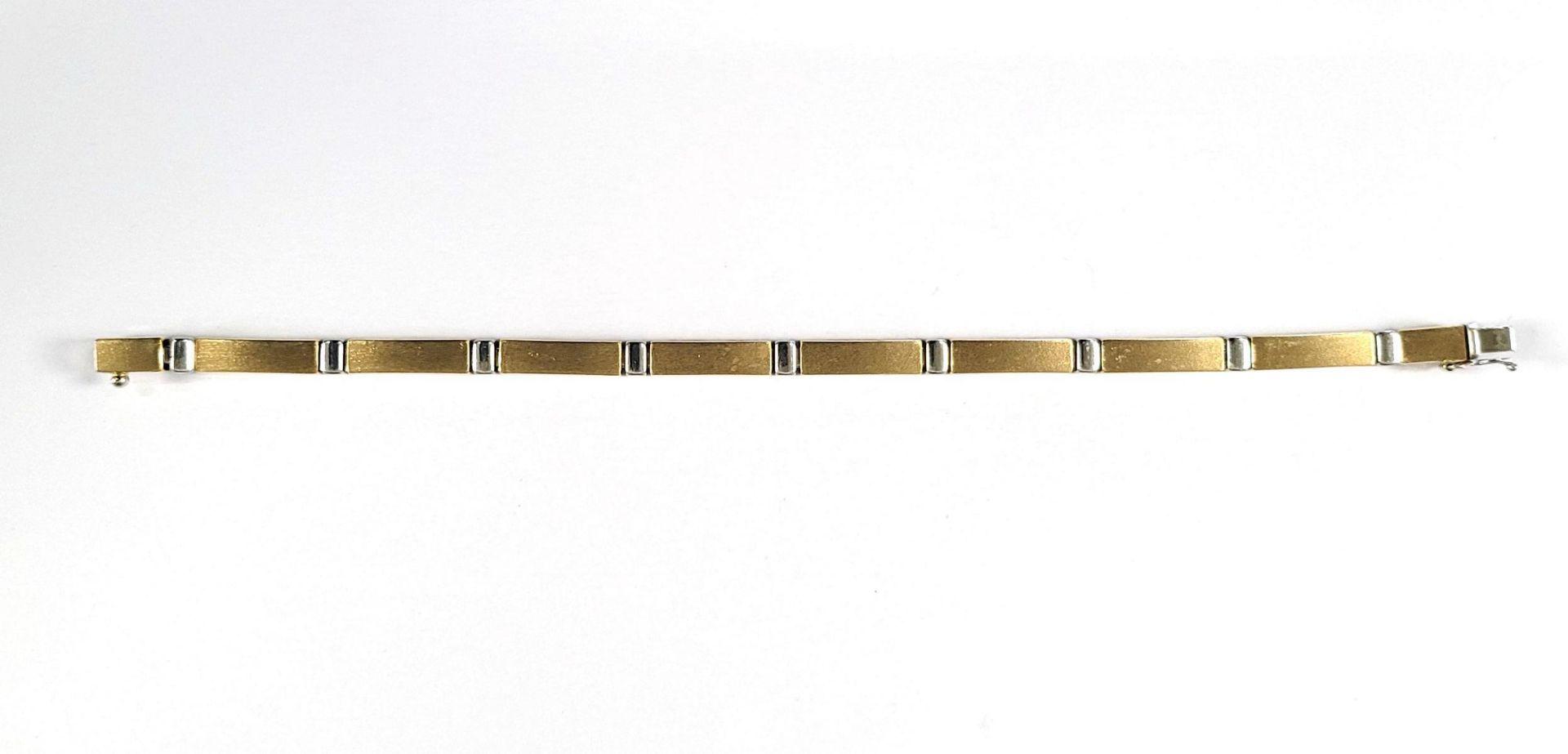 Damenarmband, 14 Karat Gelb- und Weißgold