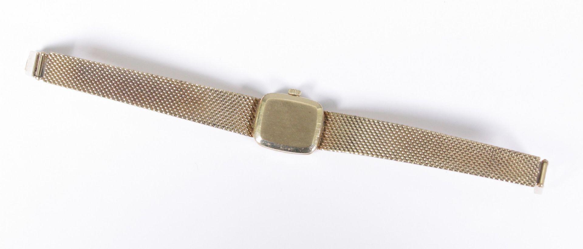 Tissot Damenarmbanduhr, 14 Karat Gelbgold - Bild 3 aus 3