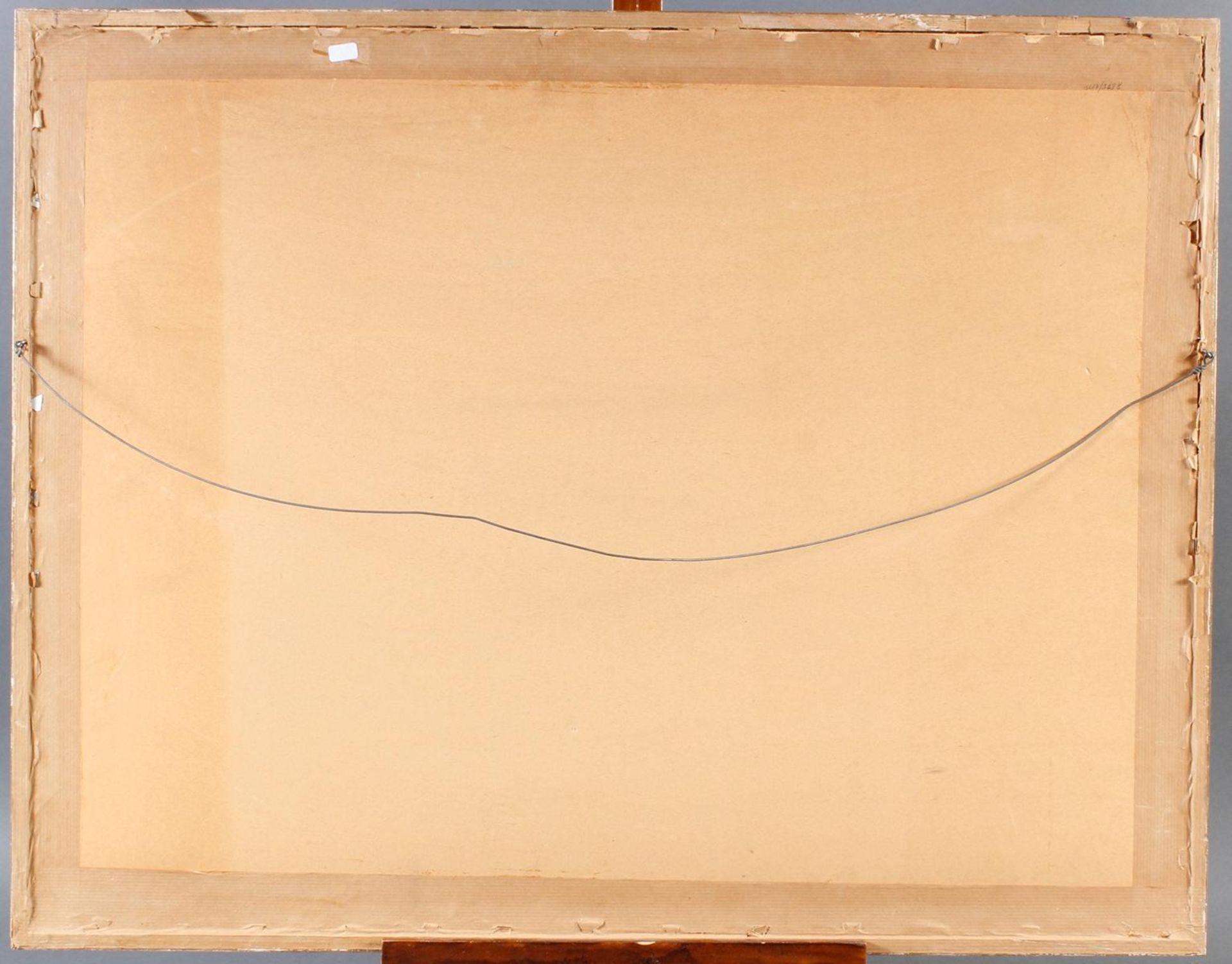 Aquarell, Hafenansicht mit Schiffen, Wilmmers 1950 - Bild 5 aus 5