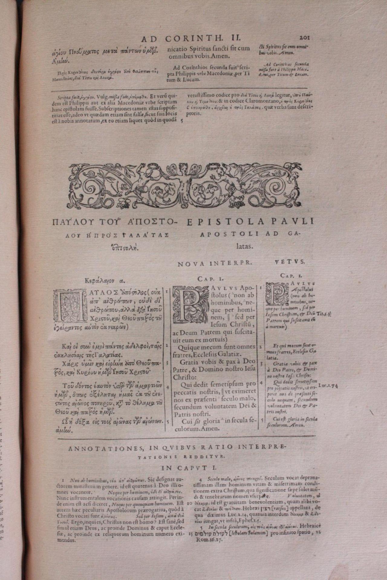 Griechische-Lateinische Bibel, Novum Testamentum 1582 - Bild 13 aus 23