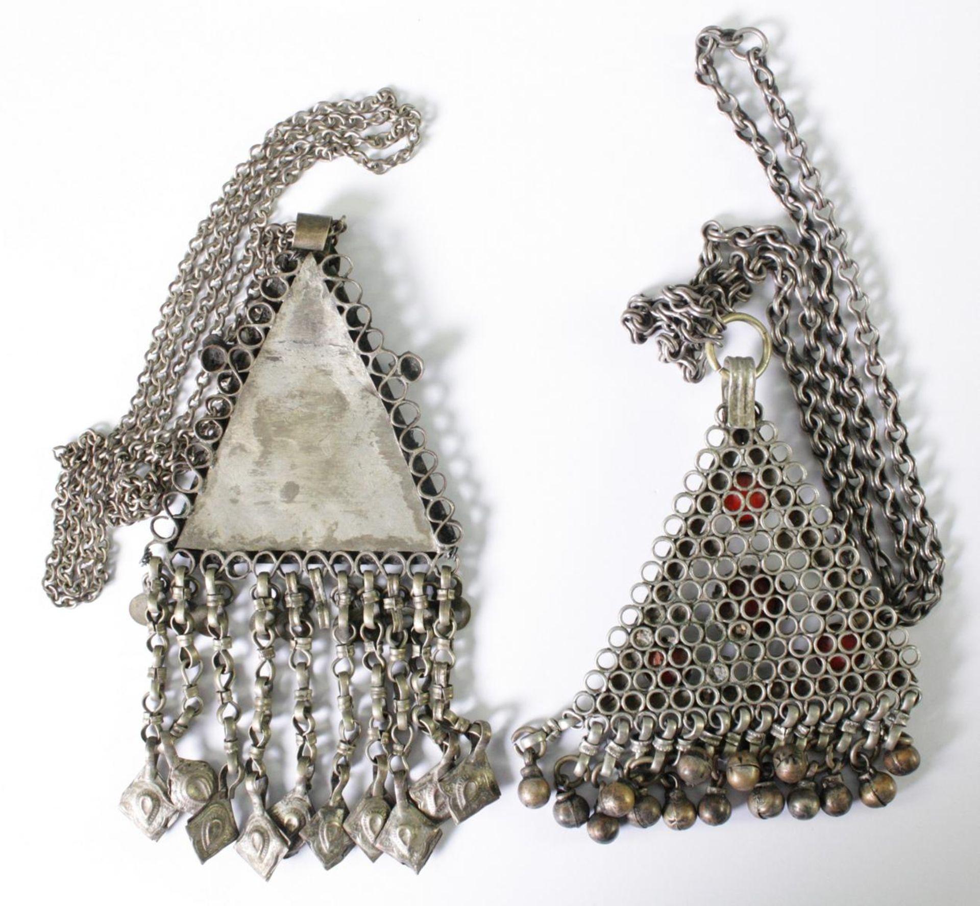 2 orientalische Halsketten, 19./20. Jahrhundert - Bild 2 aus 2