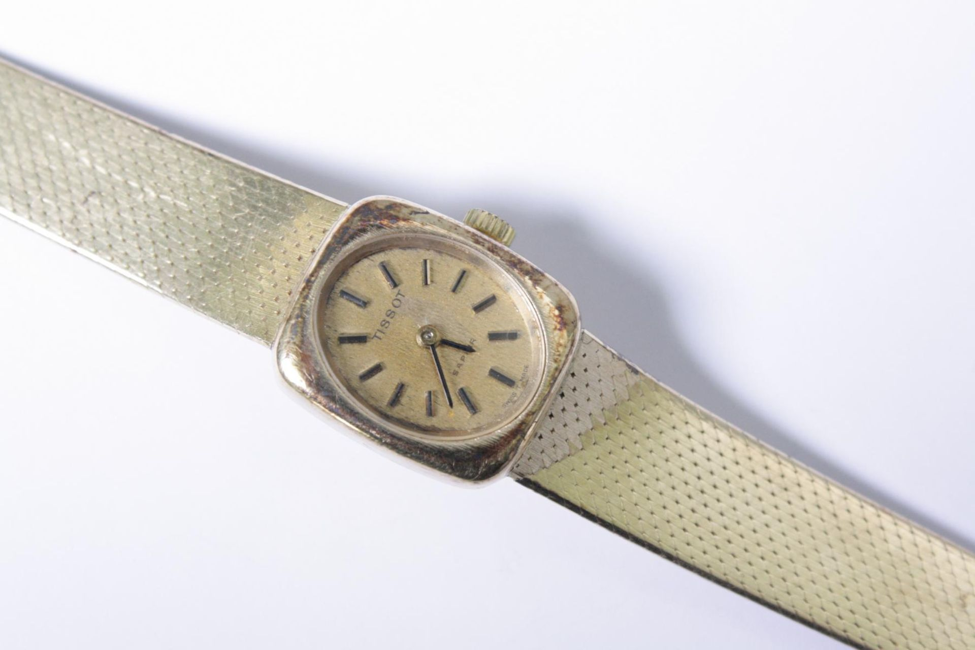 Tissot Damenarmbanduhr, 14 Karat Gelbgold - Bild 2 aus 3
