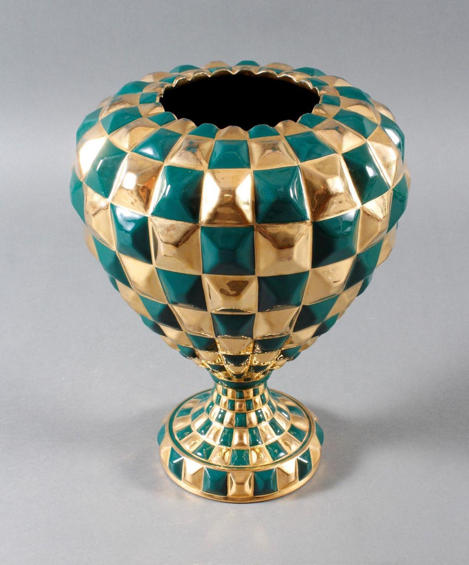 Designer-Keramikvase, wohl 1960er Jahre - Bild 3 aus 5