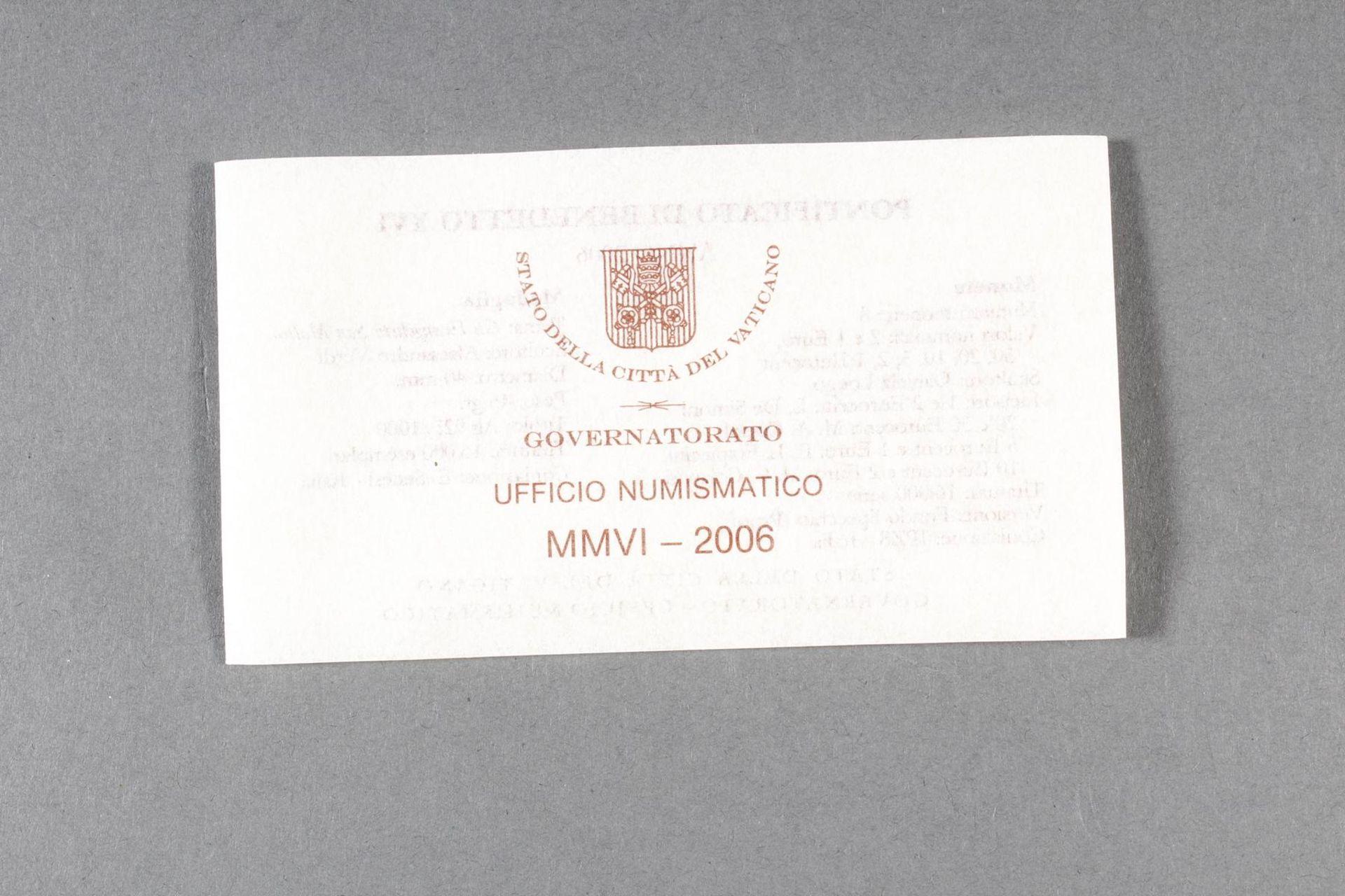 Vatikan PP KMS (Kursmünzensatz) 2006 - Bild 4 aus 4