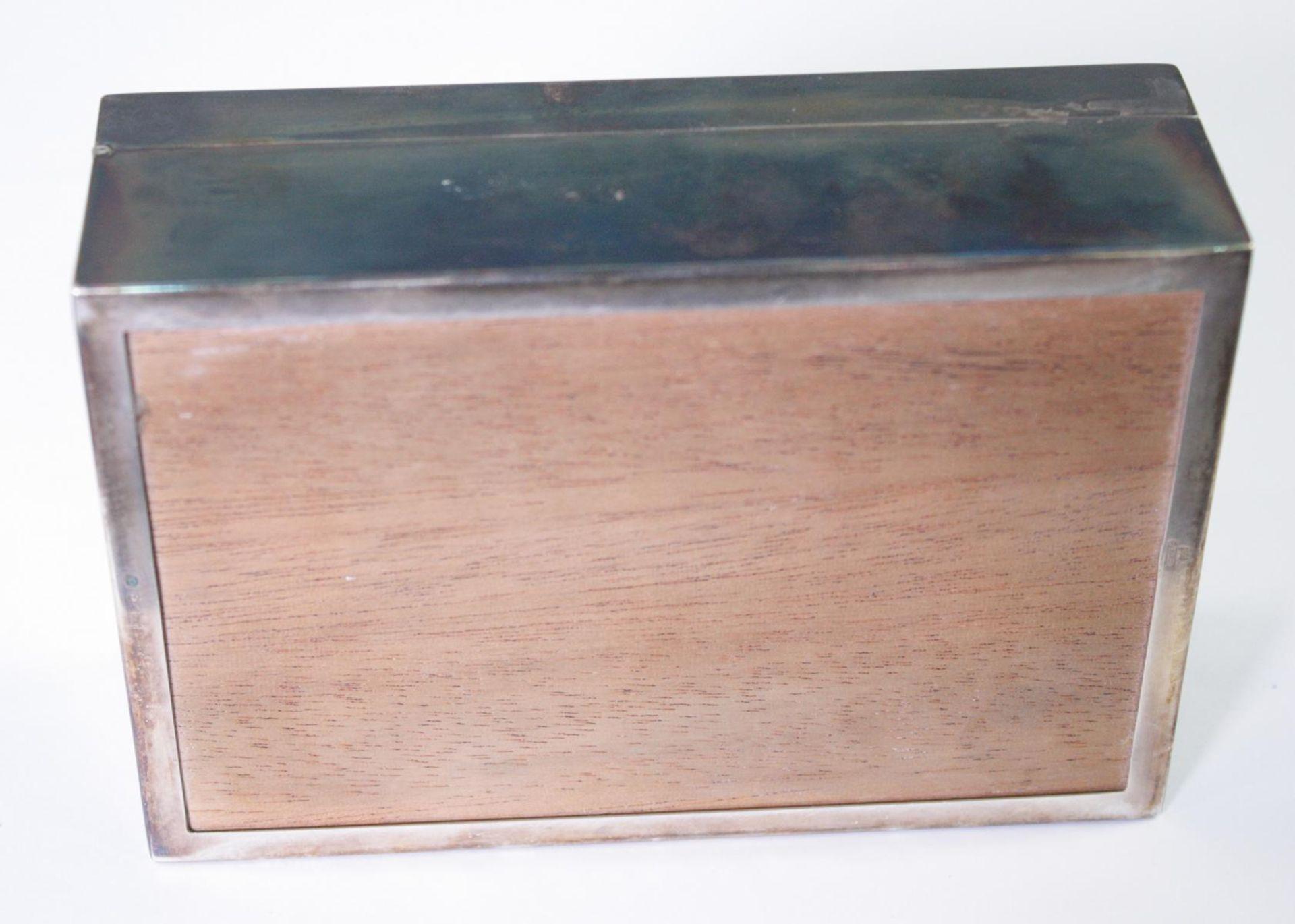 Silberne Deckeldose mit Monogramm GS, Zigarettendose - Bild 4 aus 6