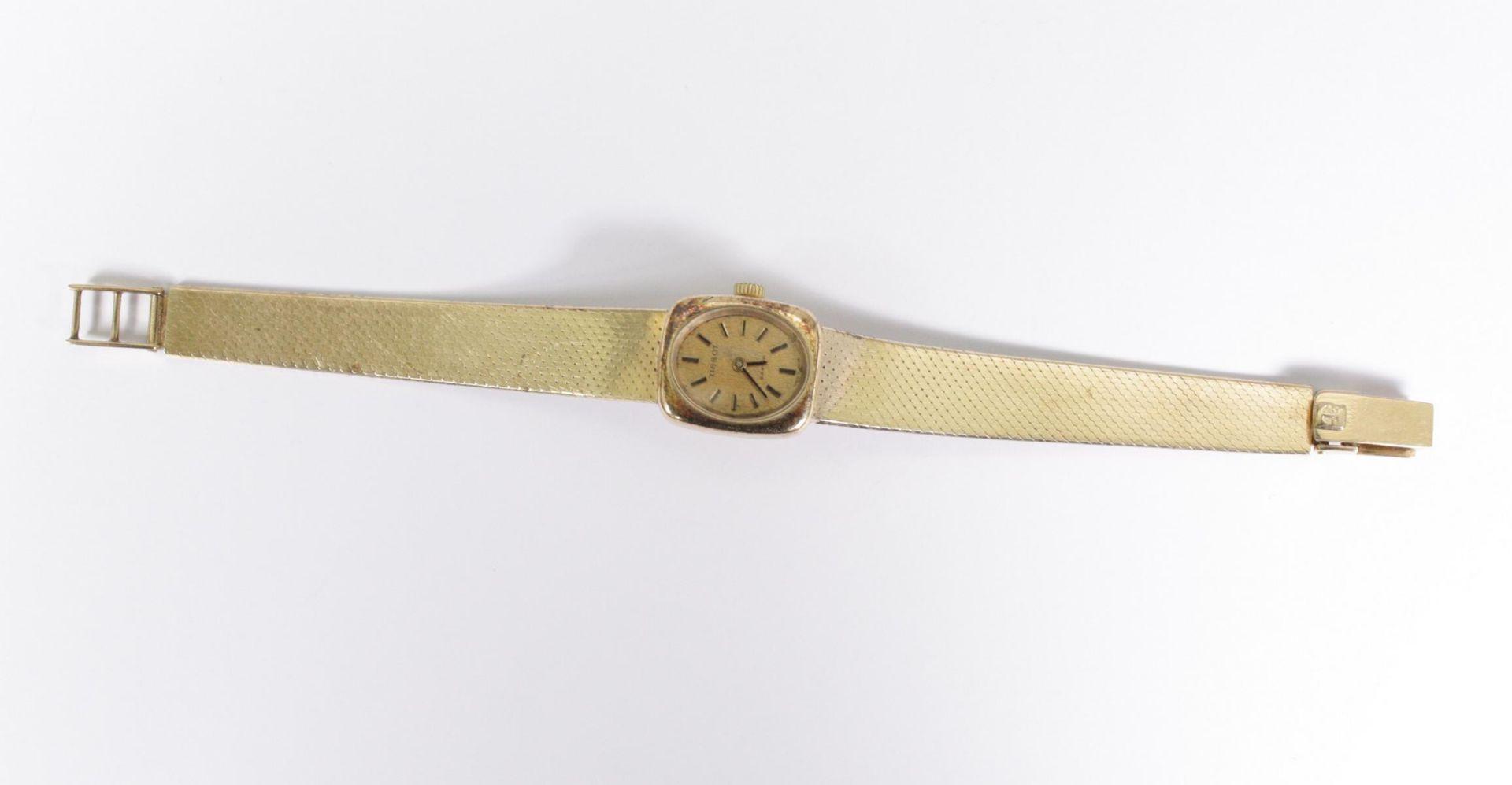 Tissot Damenarmbanduhr, 14 Karat Gelbgold
