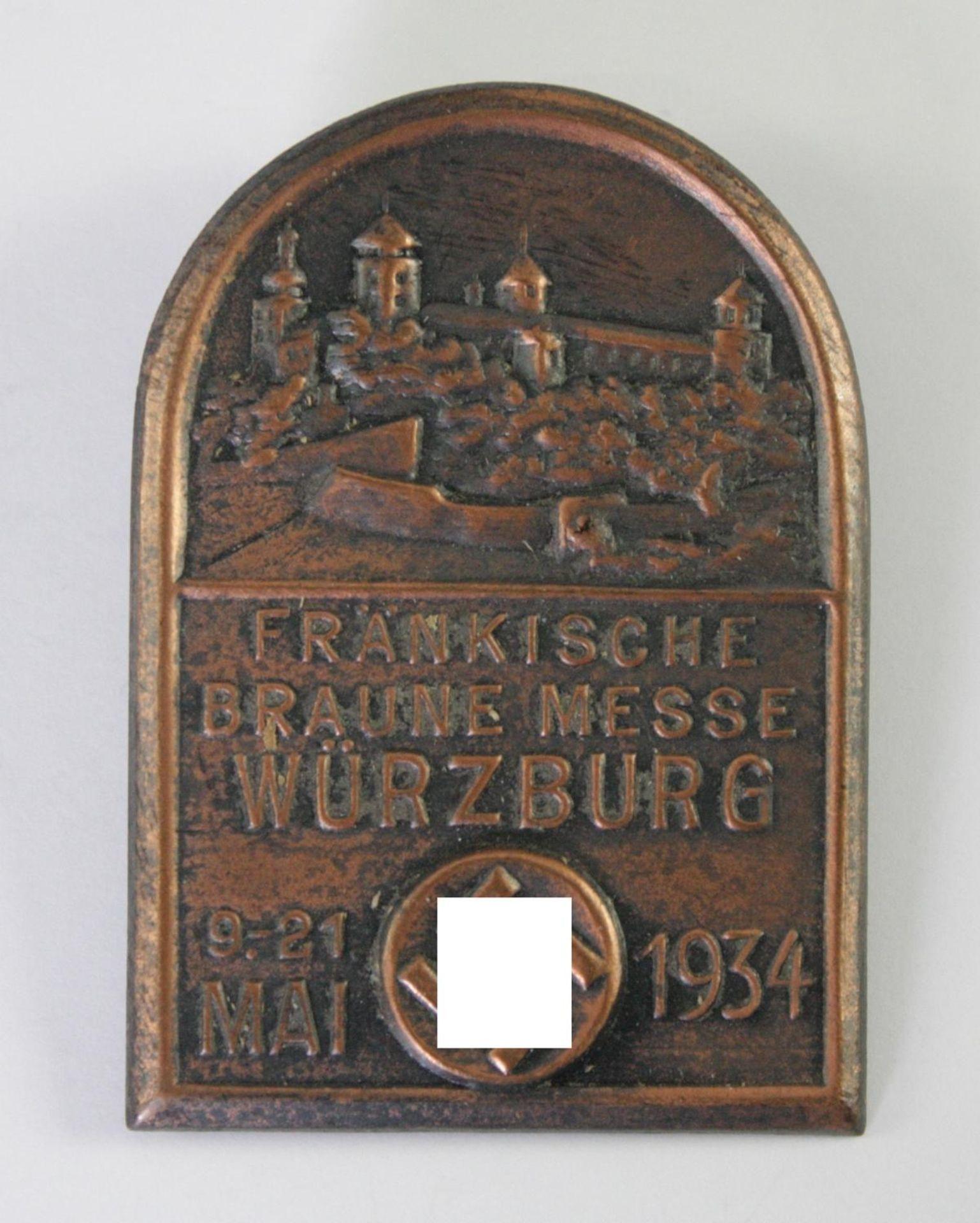 Abzeichen, Fränkische Braune Messe, Würzburg 1934