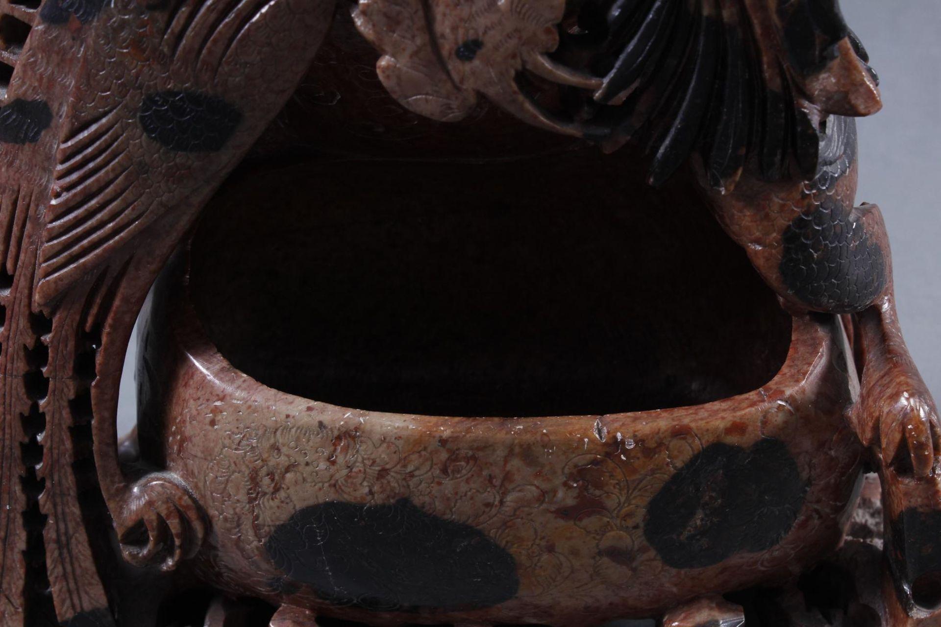 Tuschepinselwascher aus Steatit mit Zwei Becken, China Anfang 20 Jahrhundert - Bild 14 aus 16