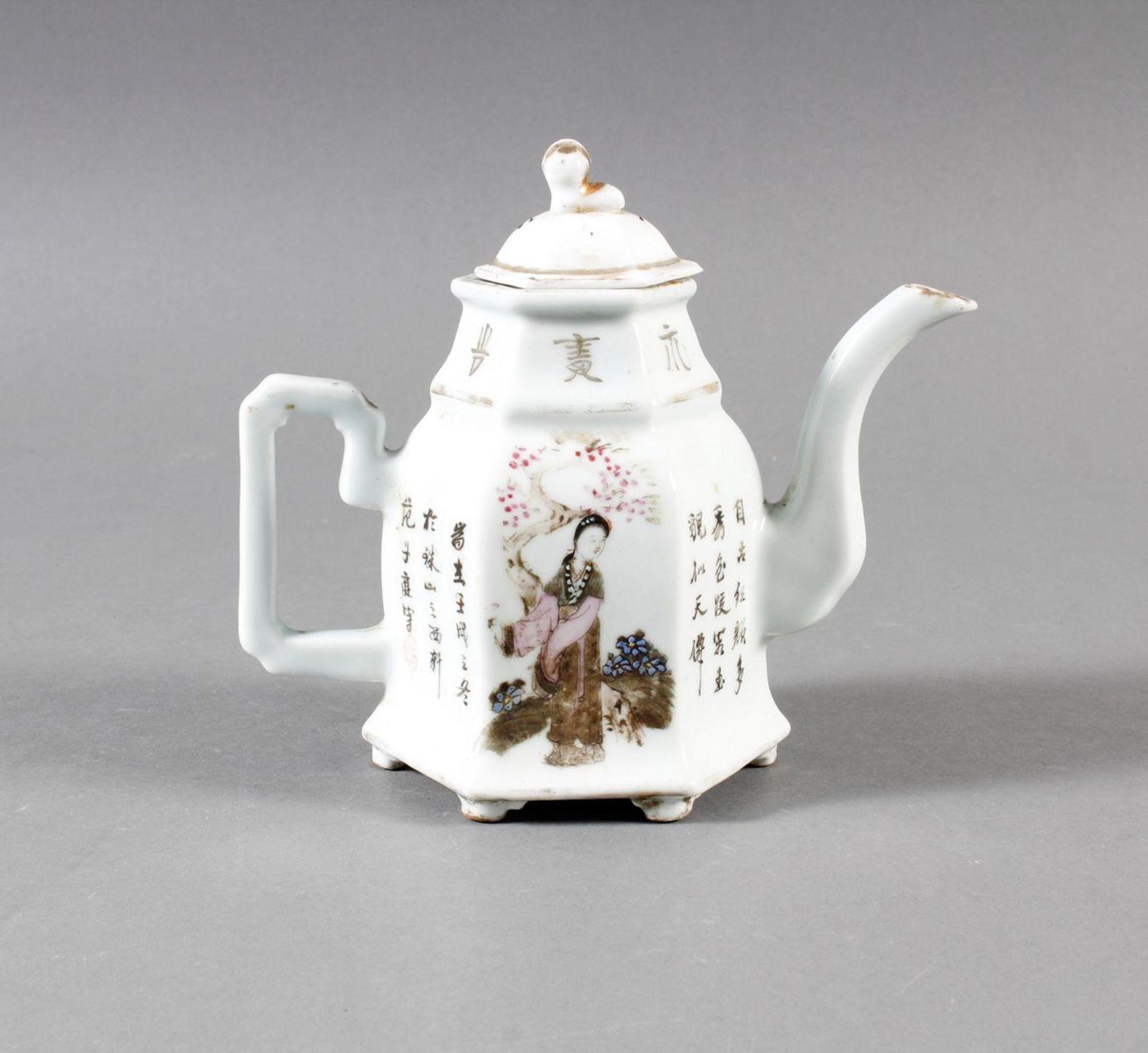Porzellan Teekann, China, 19. Jahrhundert - Bild 7 aus 15