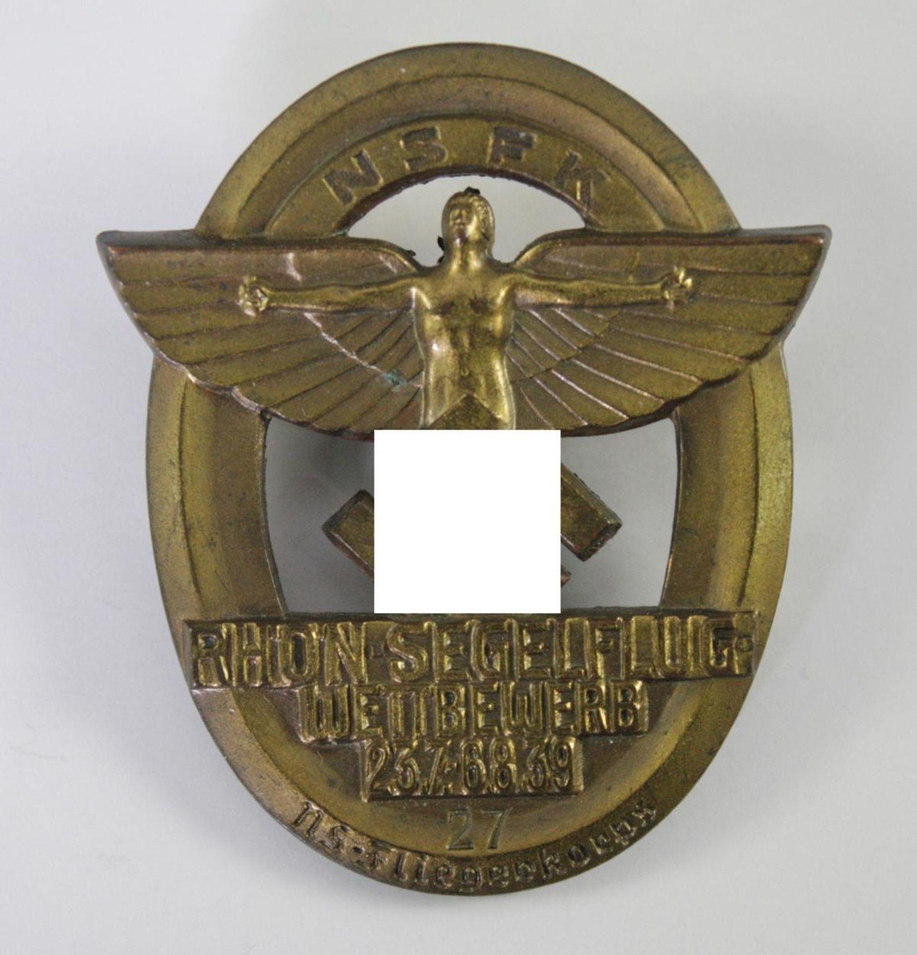 Abzeichen: NSFK (Nationalsozialistisches Fliegerkorps) Rhön-Segelflug-Wettbewerb 1939