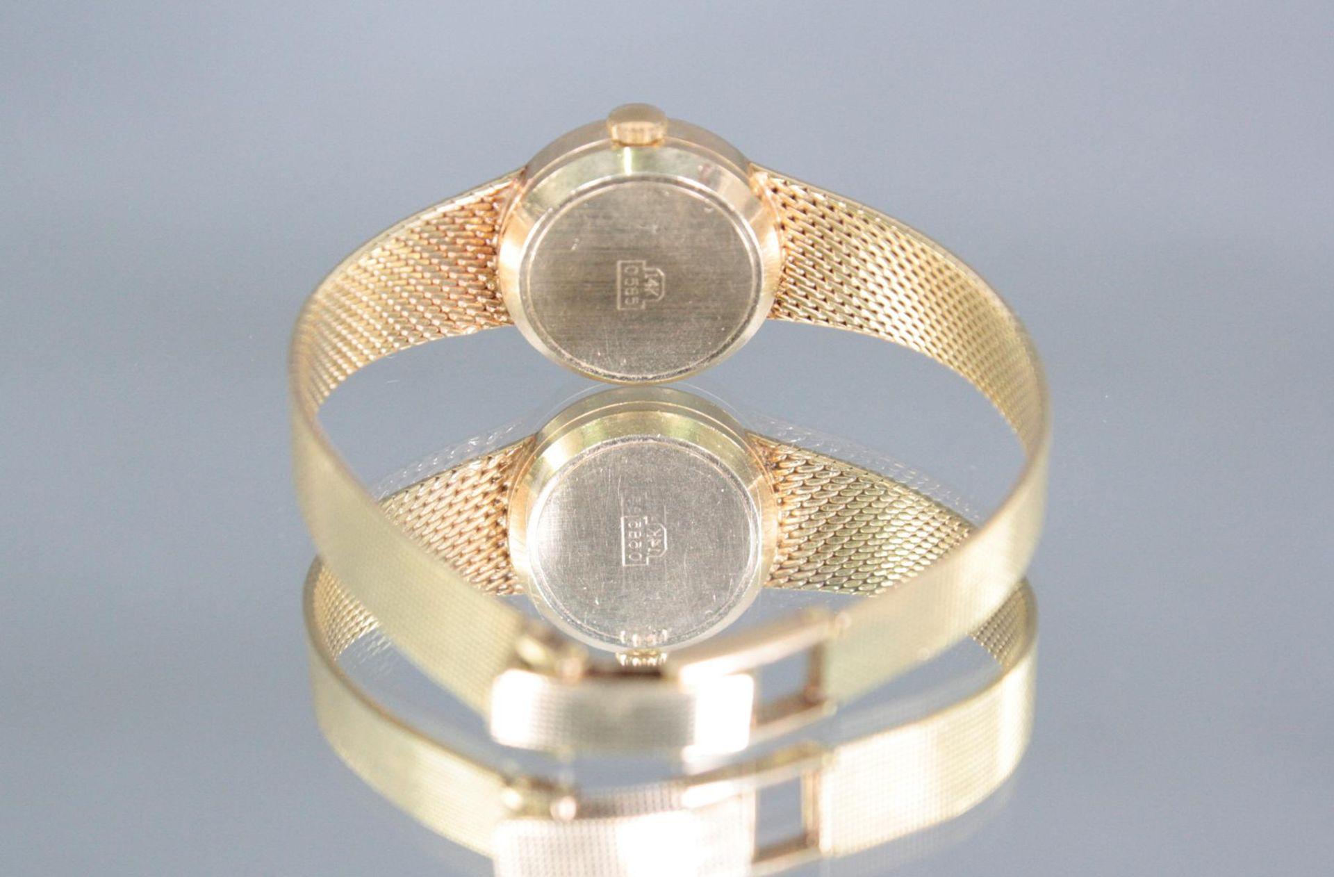 Morago Damenarmbanduhr, 14 Karat Gelbgold - Bild 2 aus 3