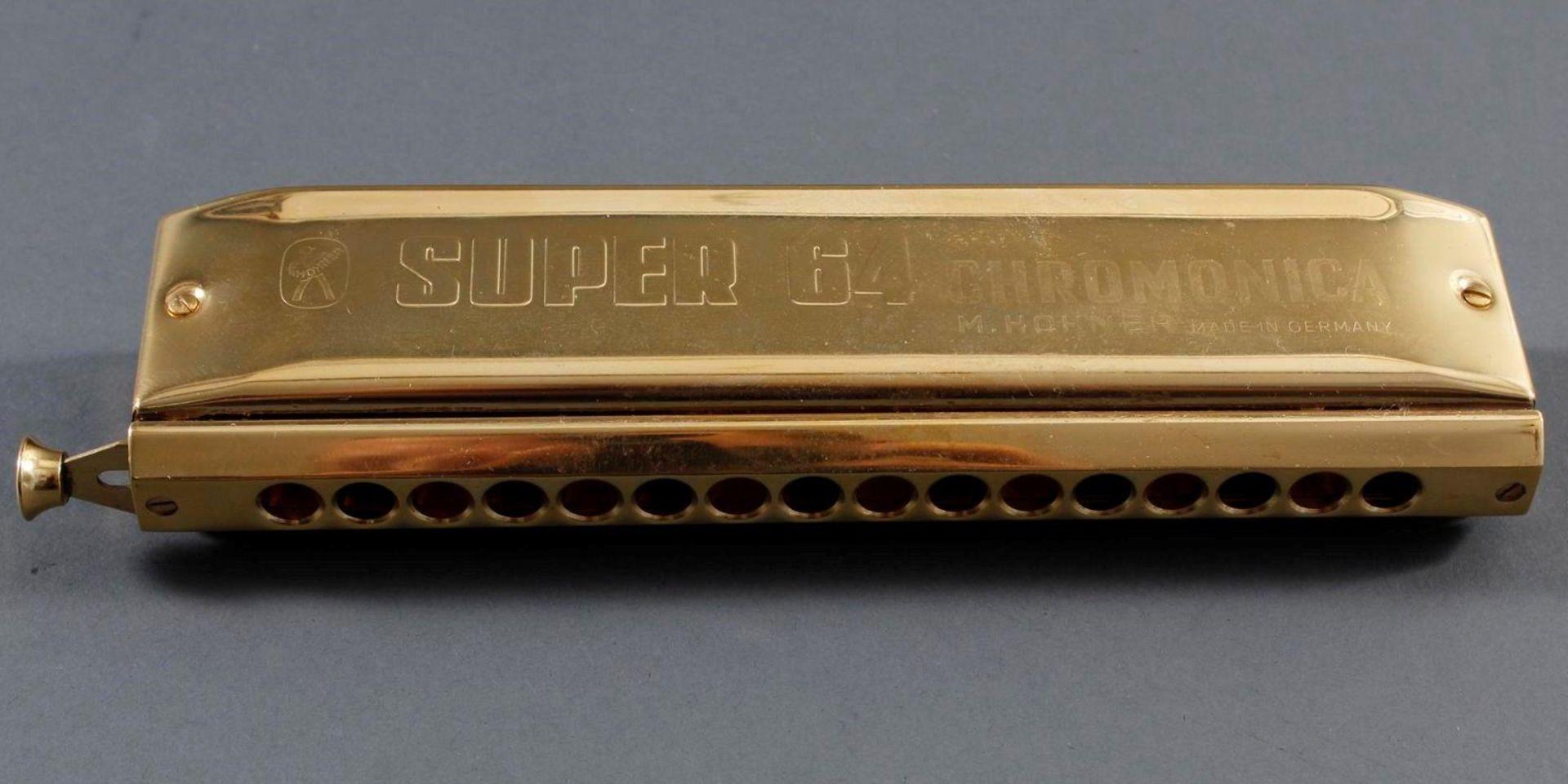 2x Hohner Chromonica Super 64 No. 7582 - Bild 3 aus 4