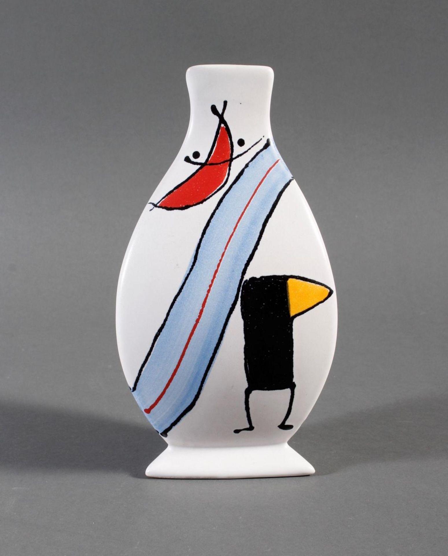 Keramik-Künstlervase, kmk, 90er Jahre - Bild 3 aus 4