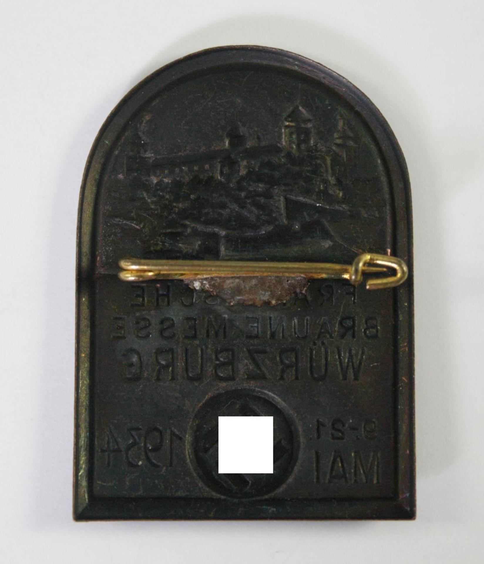 Abzeichen, Fränkische Braune Messe, Würzburg 1934 - Bild 2 aus 2