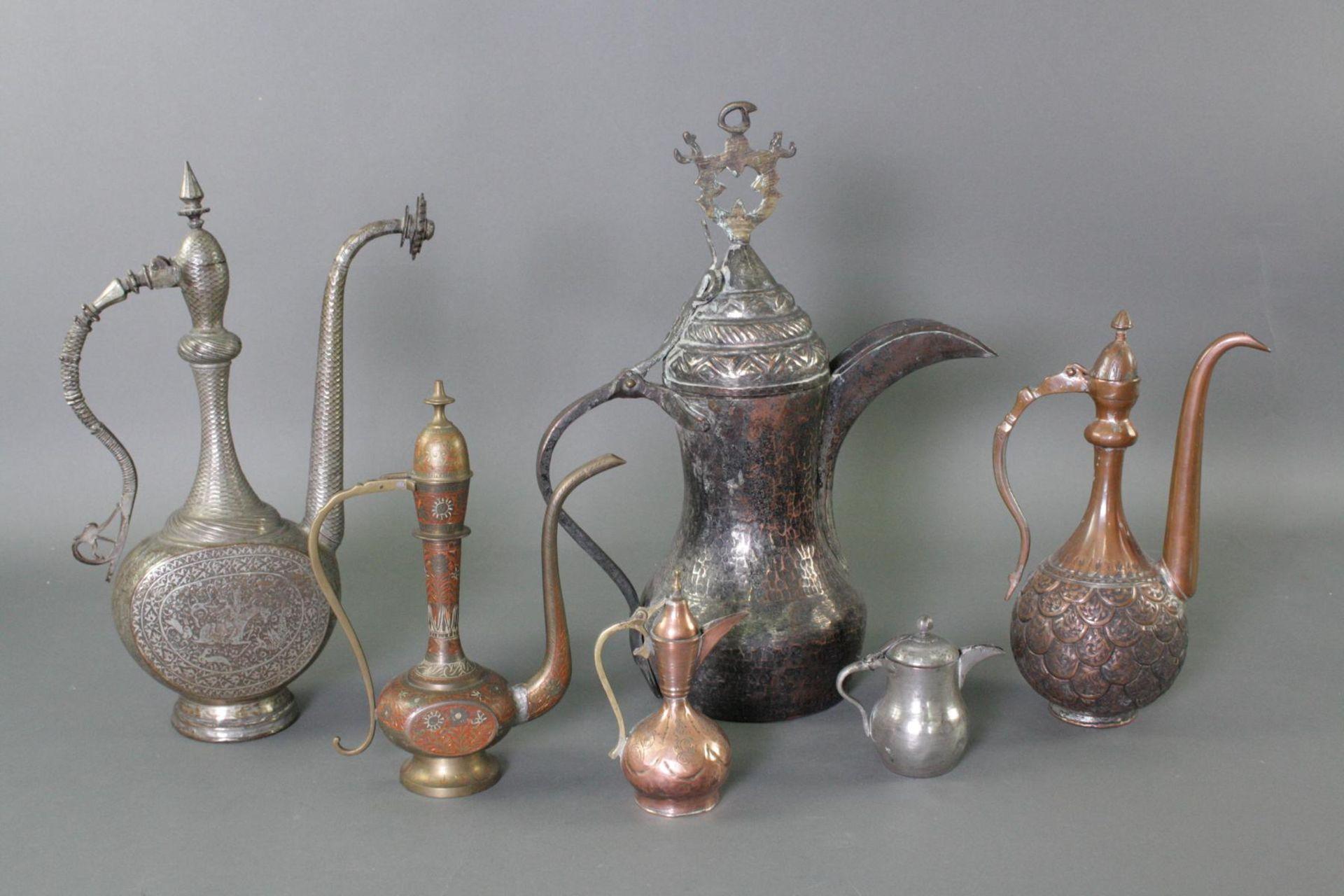 6 Kannen, Iran 19./20. Jahrhundert