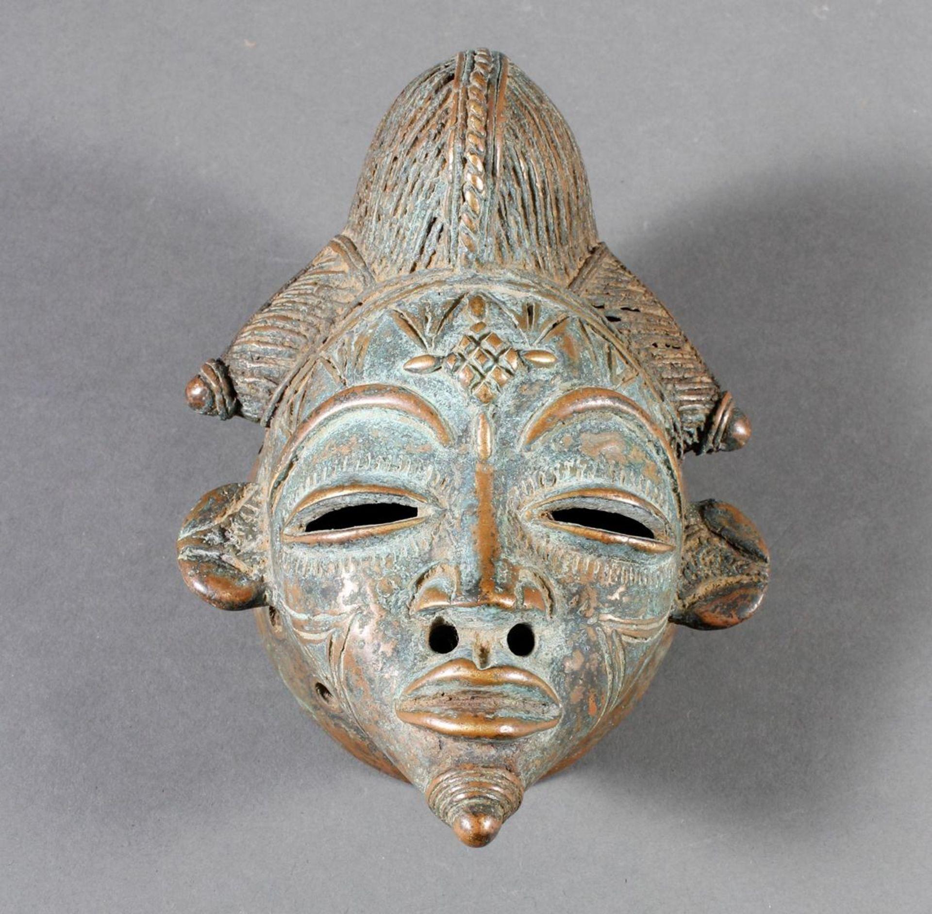Bronze-Passeportmaske, Punu / Gabun